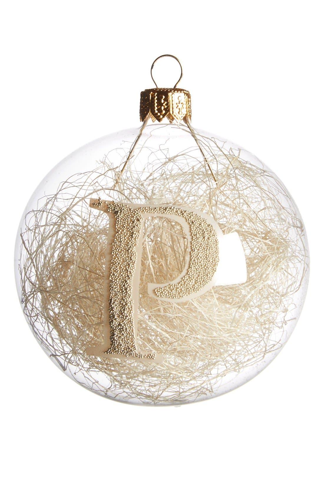 Main Image - Nordstrom at Home Monogram Ball Ornament