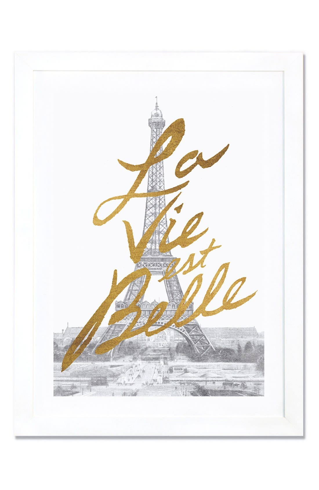 iCanvas 'Gilded Paris' Framed Fine Art Print