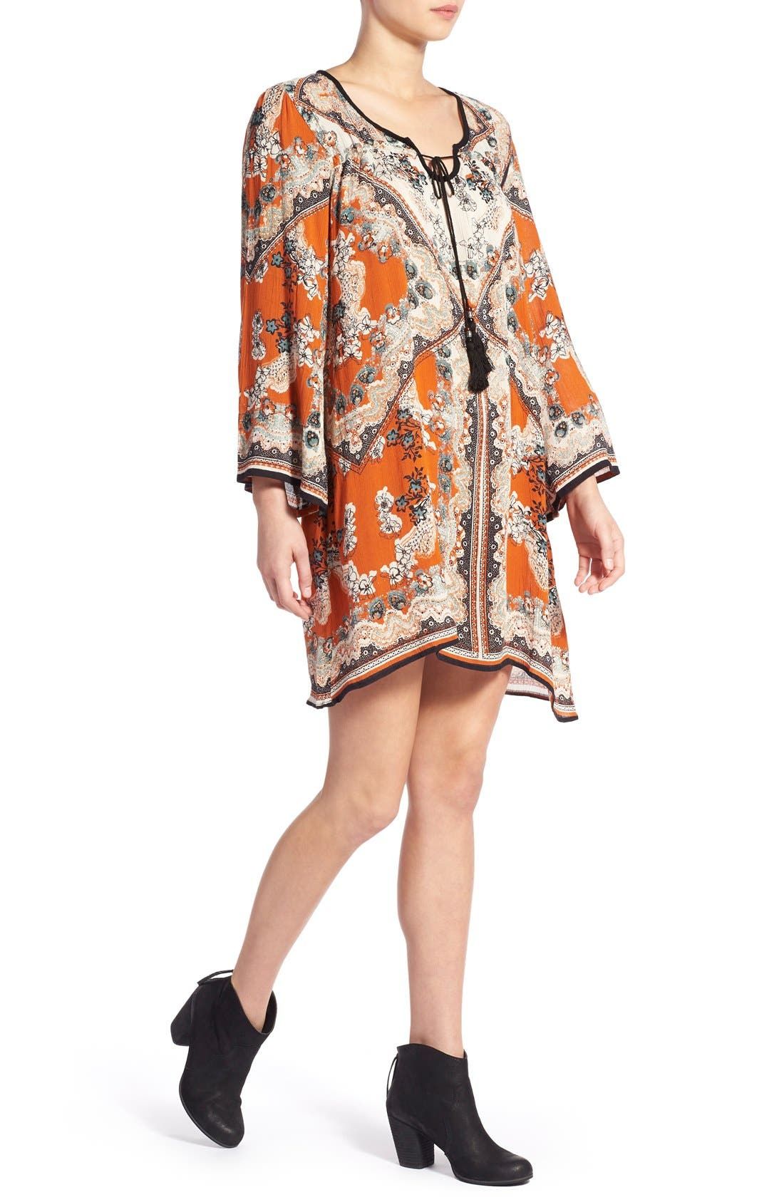 Alternate Image 4  - Angie Print Shift Dress
