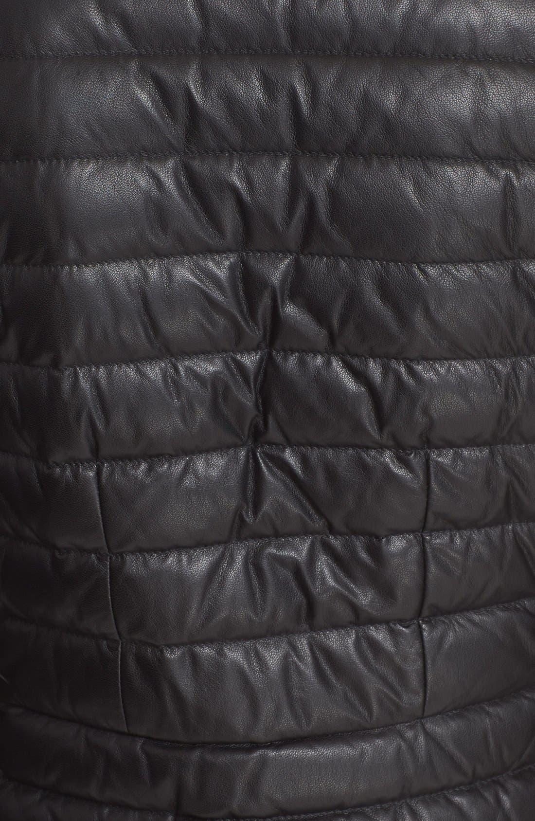 Alternate Image 3  - Moncler 'Palomete' Lambskin Leather Down Moto Jacket