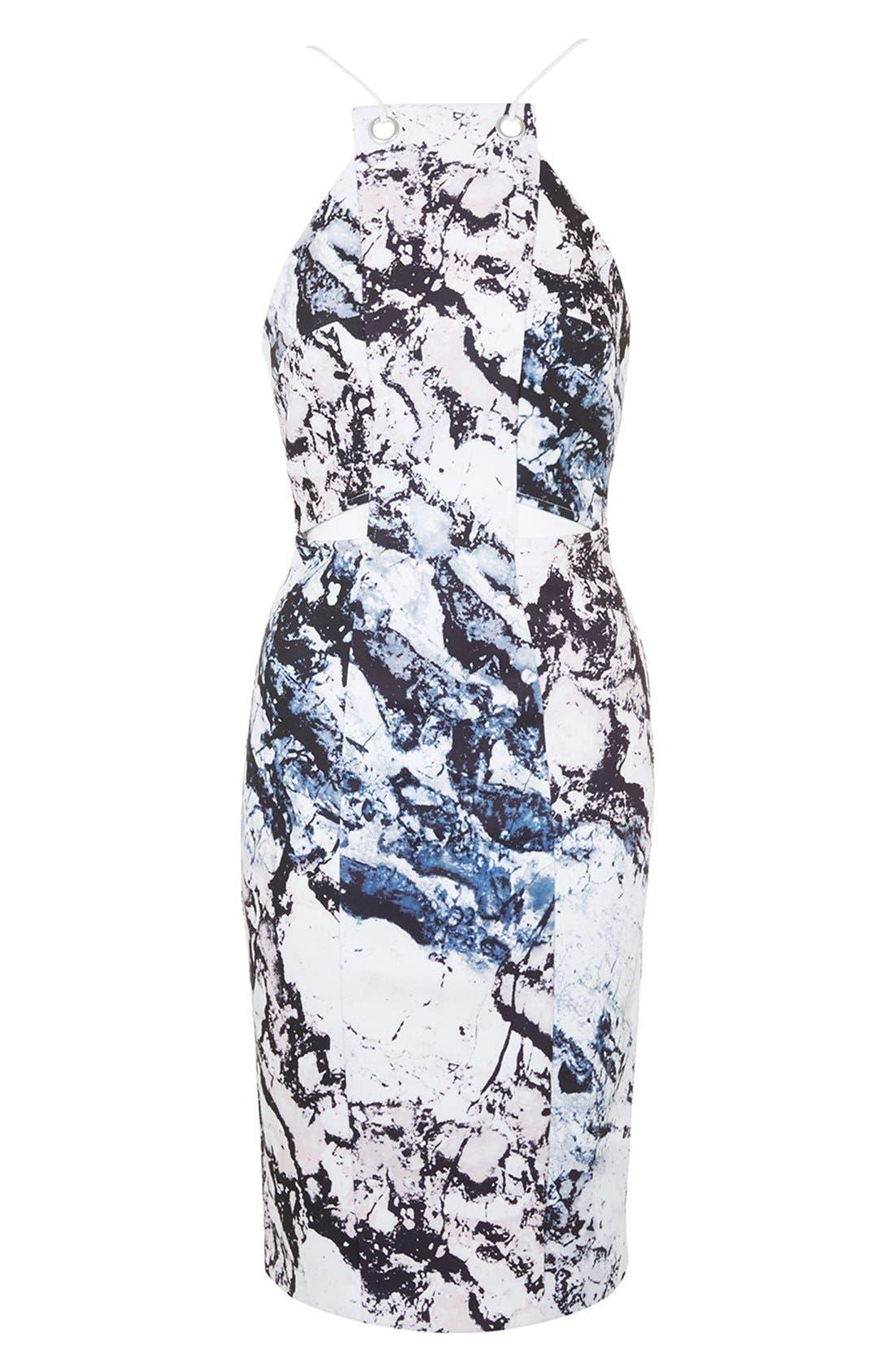 Alternate Image 4  - KENDALL + KYLIE at Topshop Print Cutout Sleeveless Dress