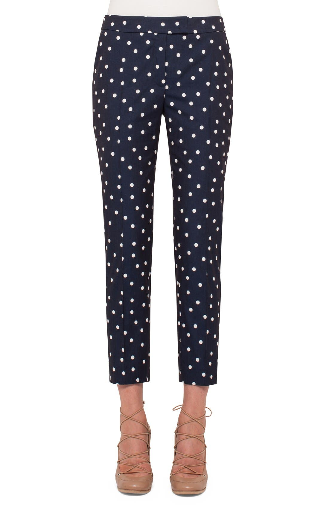 Alternate Image 1 Selected - Akris punto 'Frankie' Crop Stretch Cotton Pants
