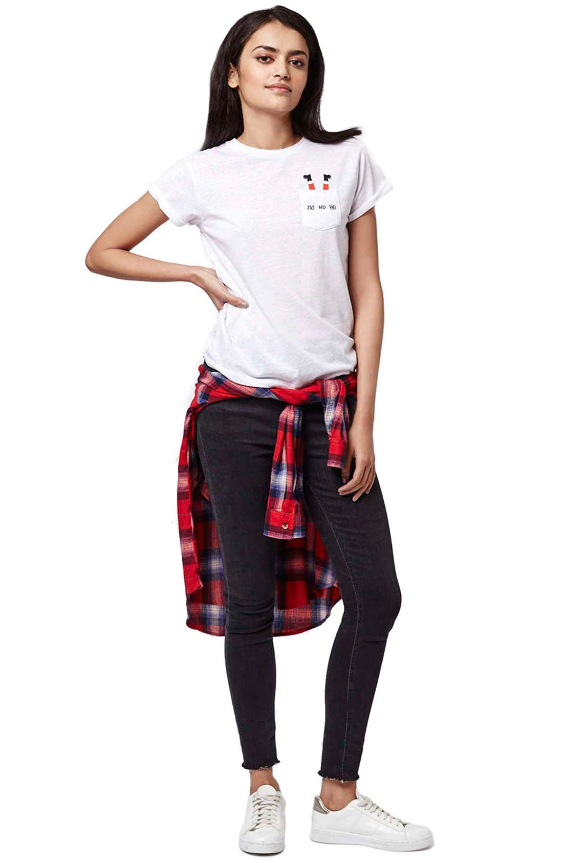 Alternate Image 2  - Topshop Santa Pocket Tee