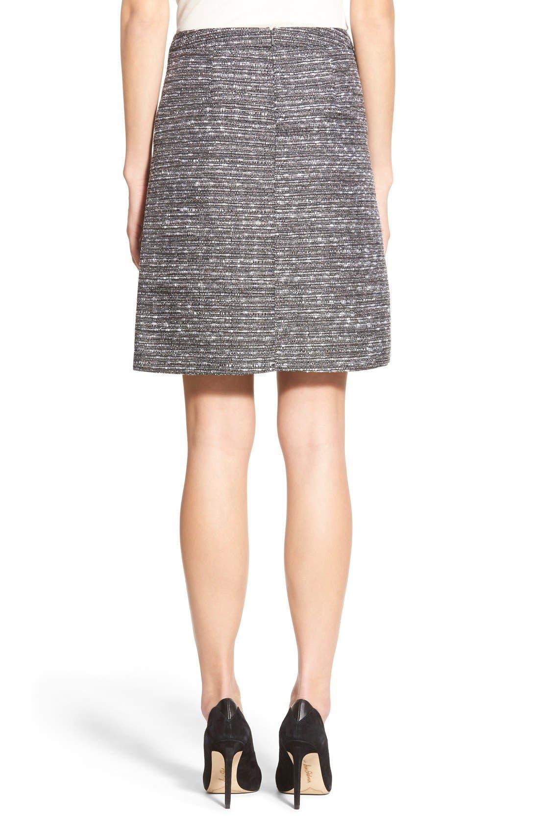 Alternate Image 3  - Halogen® Welt Pocket A-Line Skirt (Regular & Petite)
