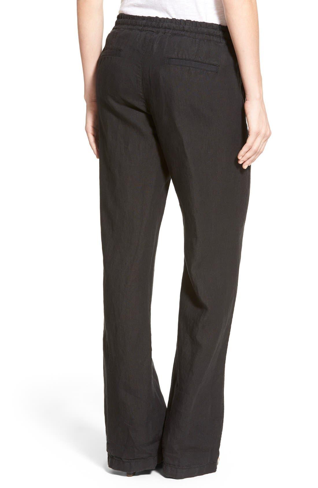 Alternate Image 2  - Caslon® Drawstring Linen Pants (Regular & Petite)
