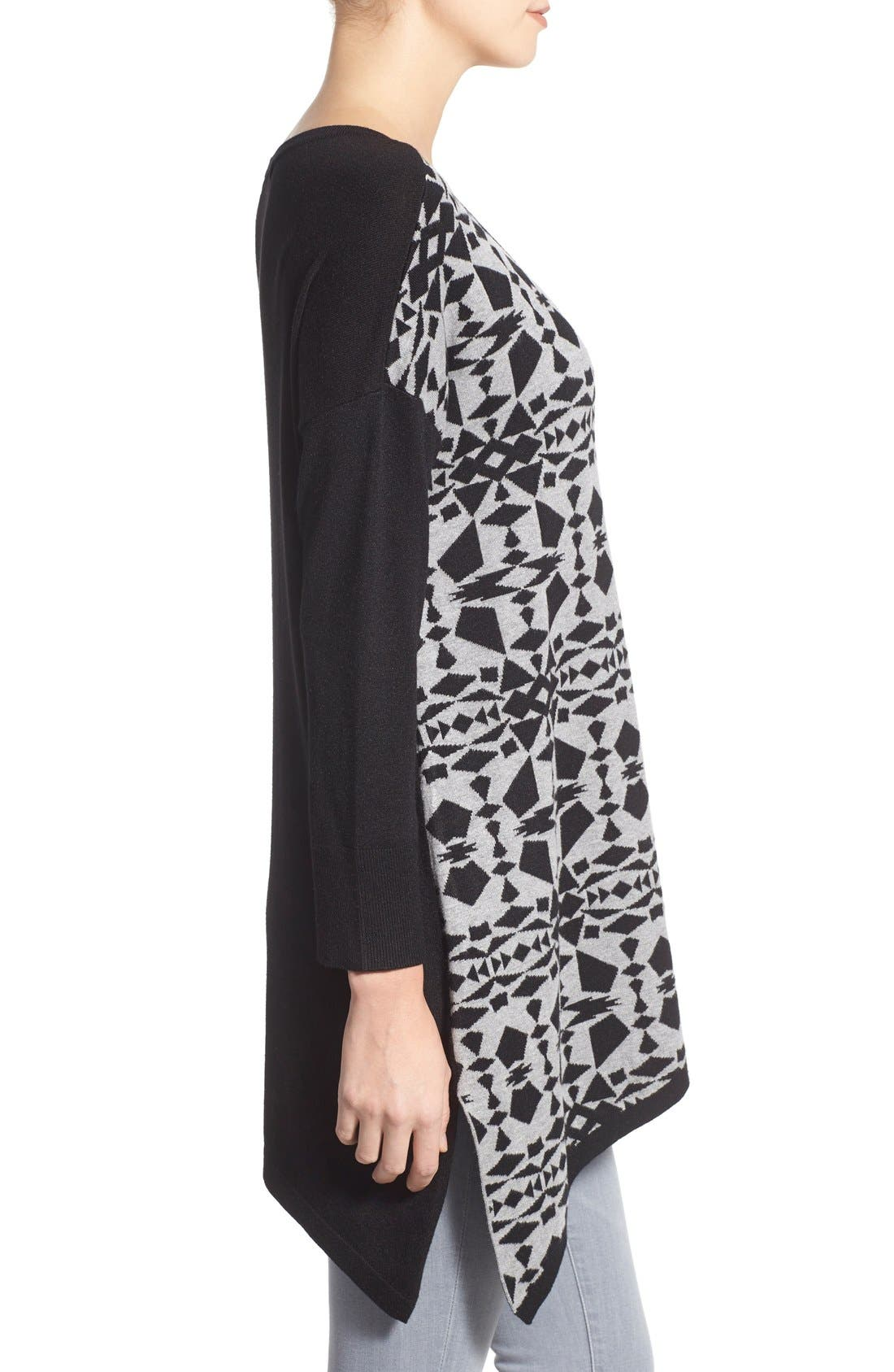 Alternate Image 3  - kensie Print Block Asymmetrical Pullover