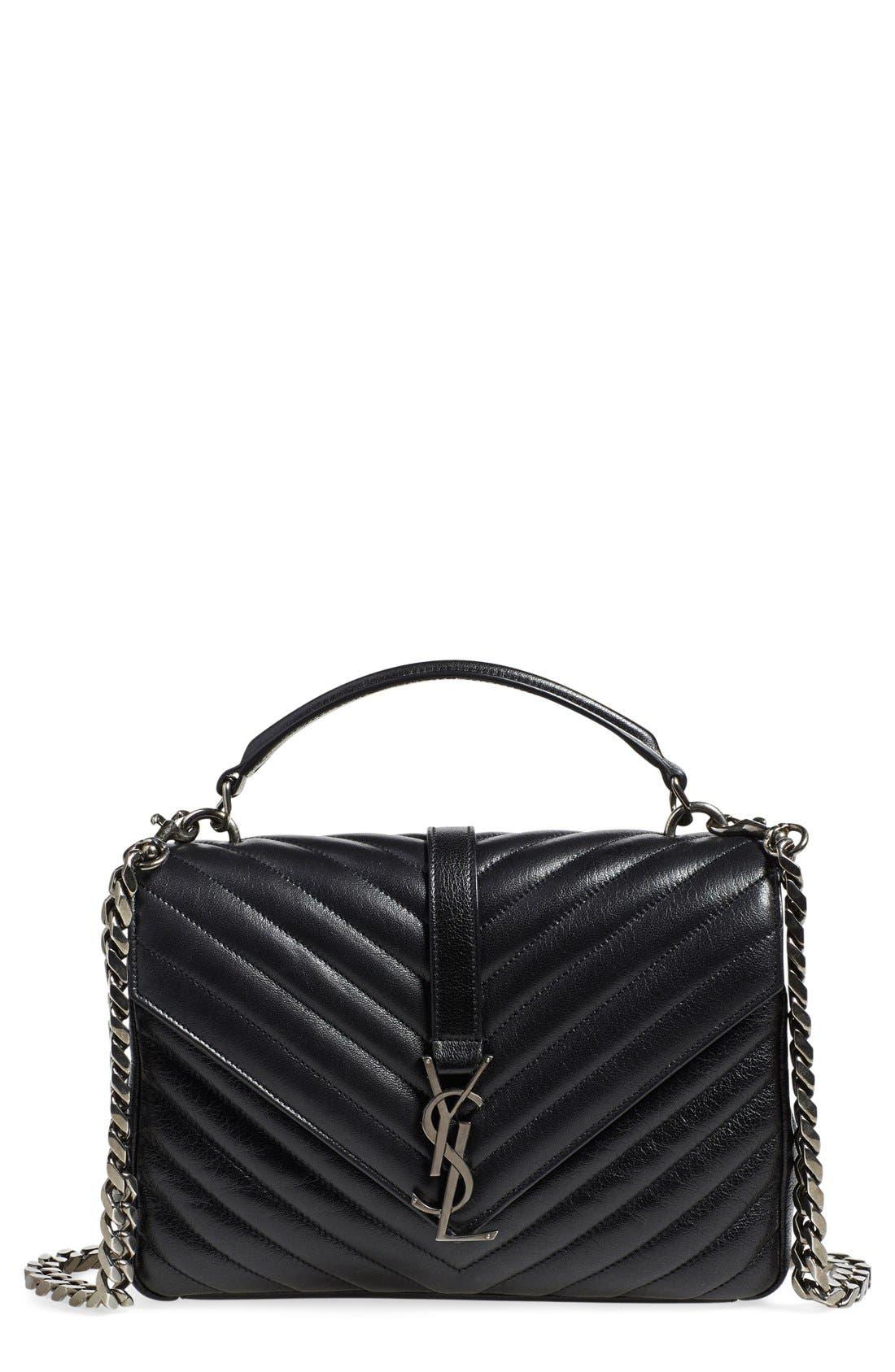 Alternate Image 1 Selected - Saint Laurent 'Medium Monogram' Quilted Leather Shoulder Bag