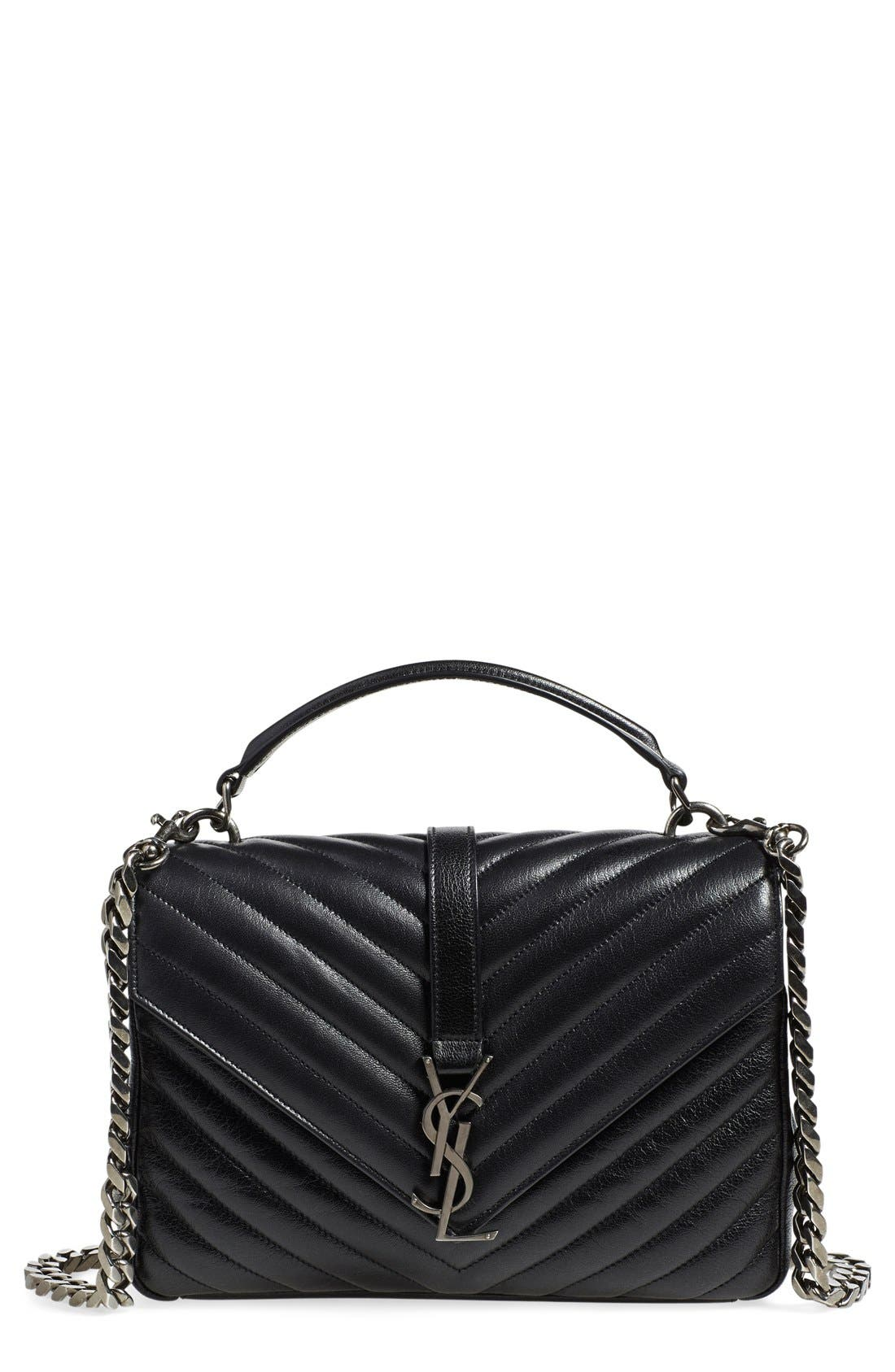 Main Image - Saint Laurent 'Medium Monogram' Quilted Leather Shoulder Bag