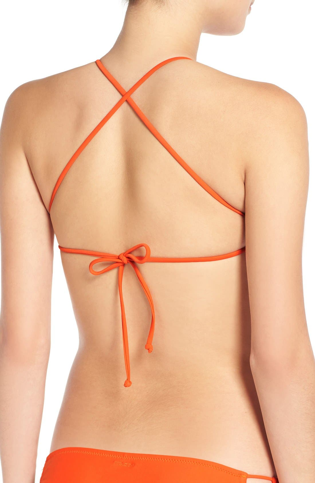 Alternate Image 4  - Volcom 'Simply Solid' Crop Bikini Top