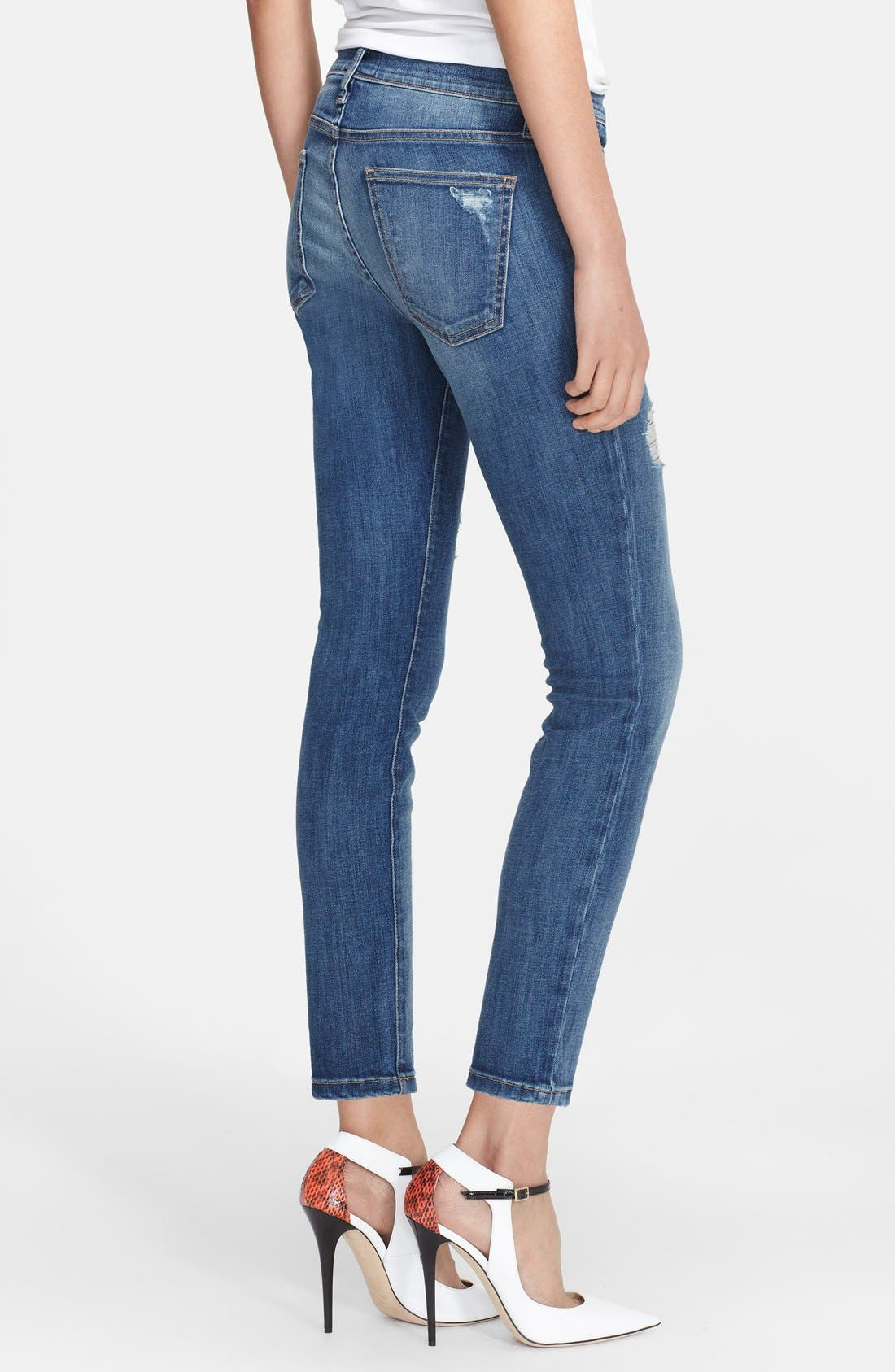 Alternate Image 2  - Current/Elliott 'The Stiletto' Destroyed Skinny Jeans (Niagara Destroy) (Nordstrom Exclusive)