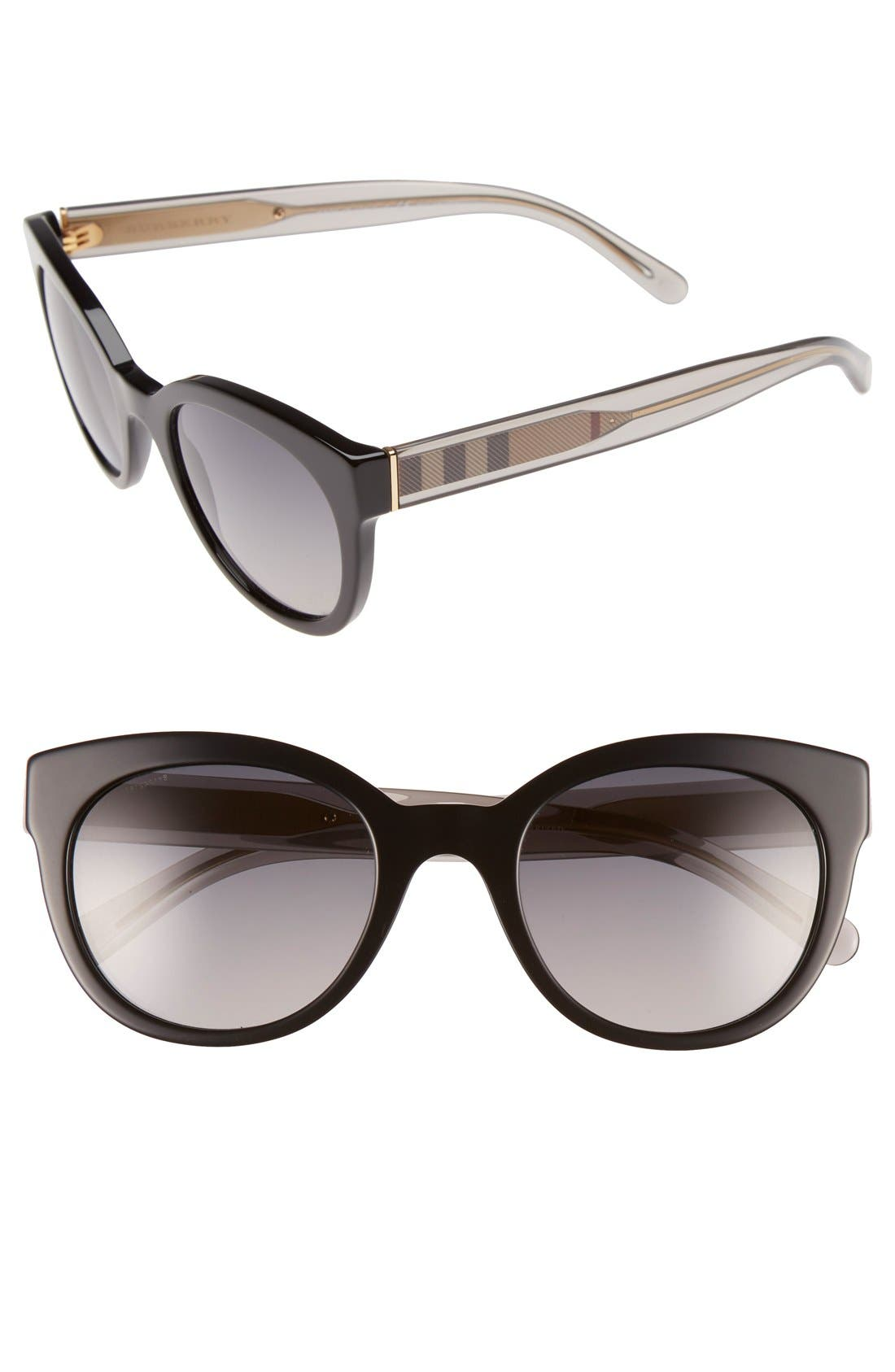 Alternate Image 1 Selected - Burberry 52mm Polarized Retro Sunglasses