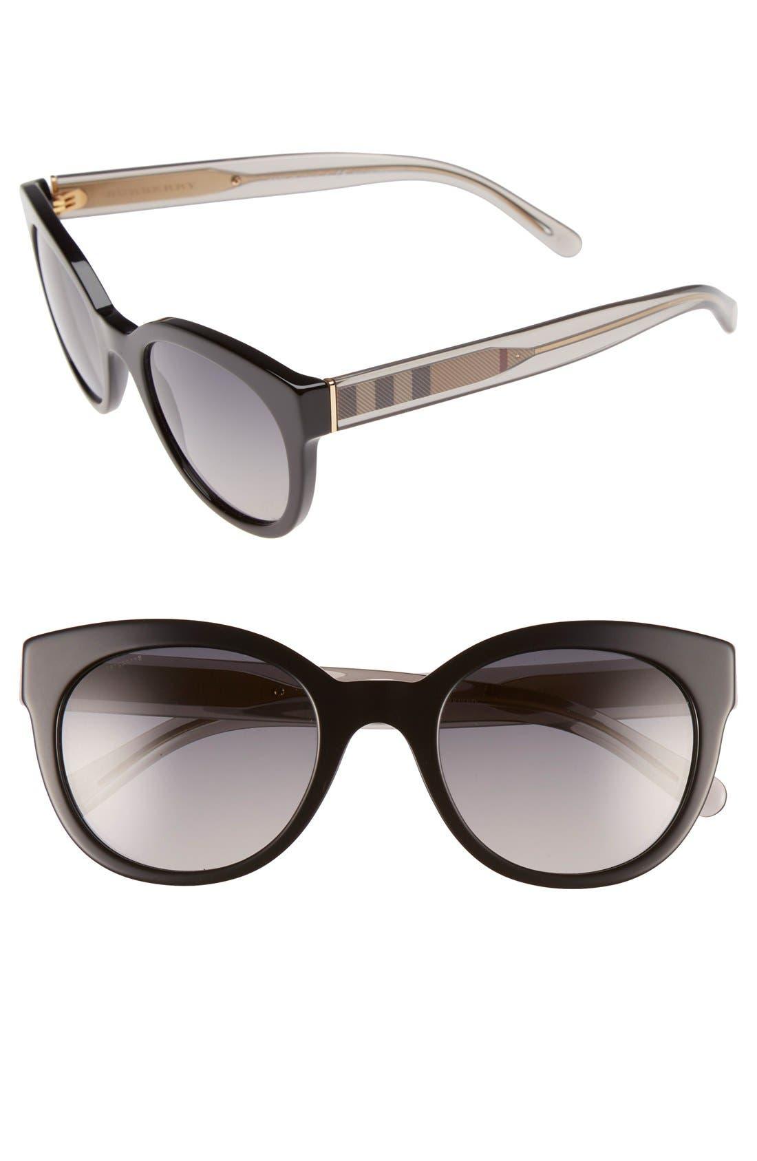 Main Image - Burberry 52mm Polarized Retro Sunglasses