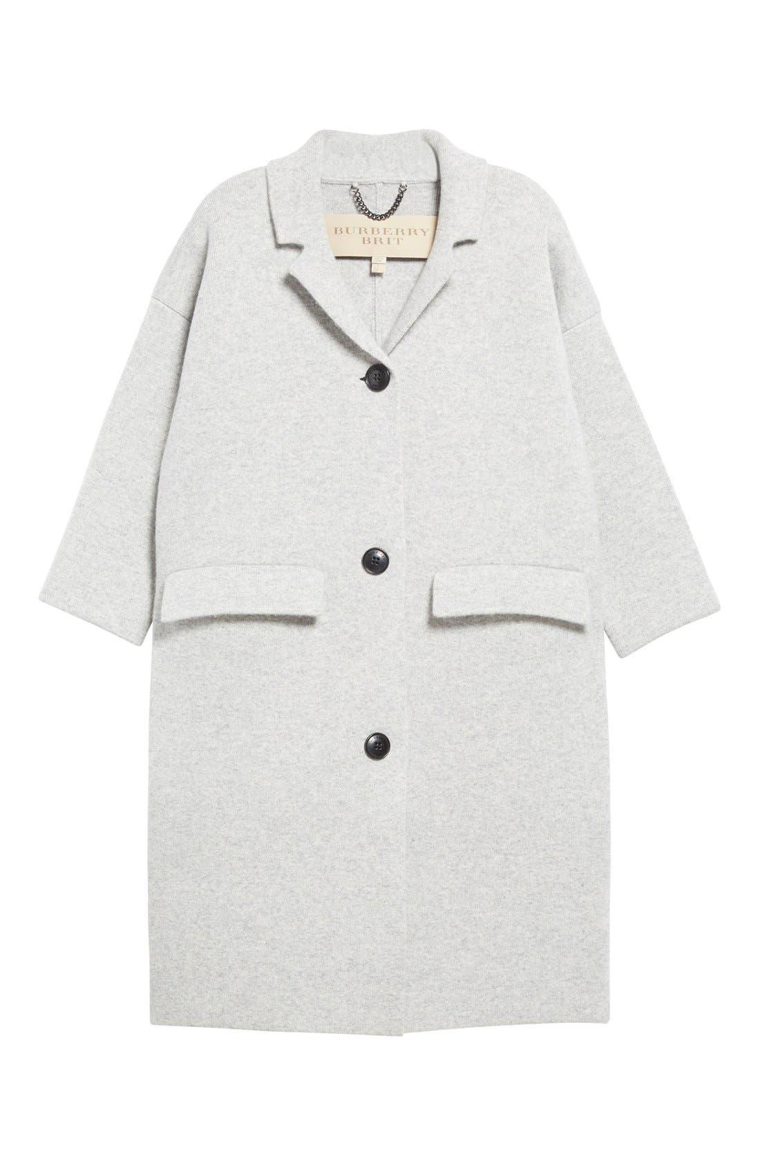 Alternate Image 4  - Burberry Brit Wool & Cashmere Knit Long Coat