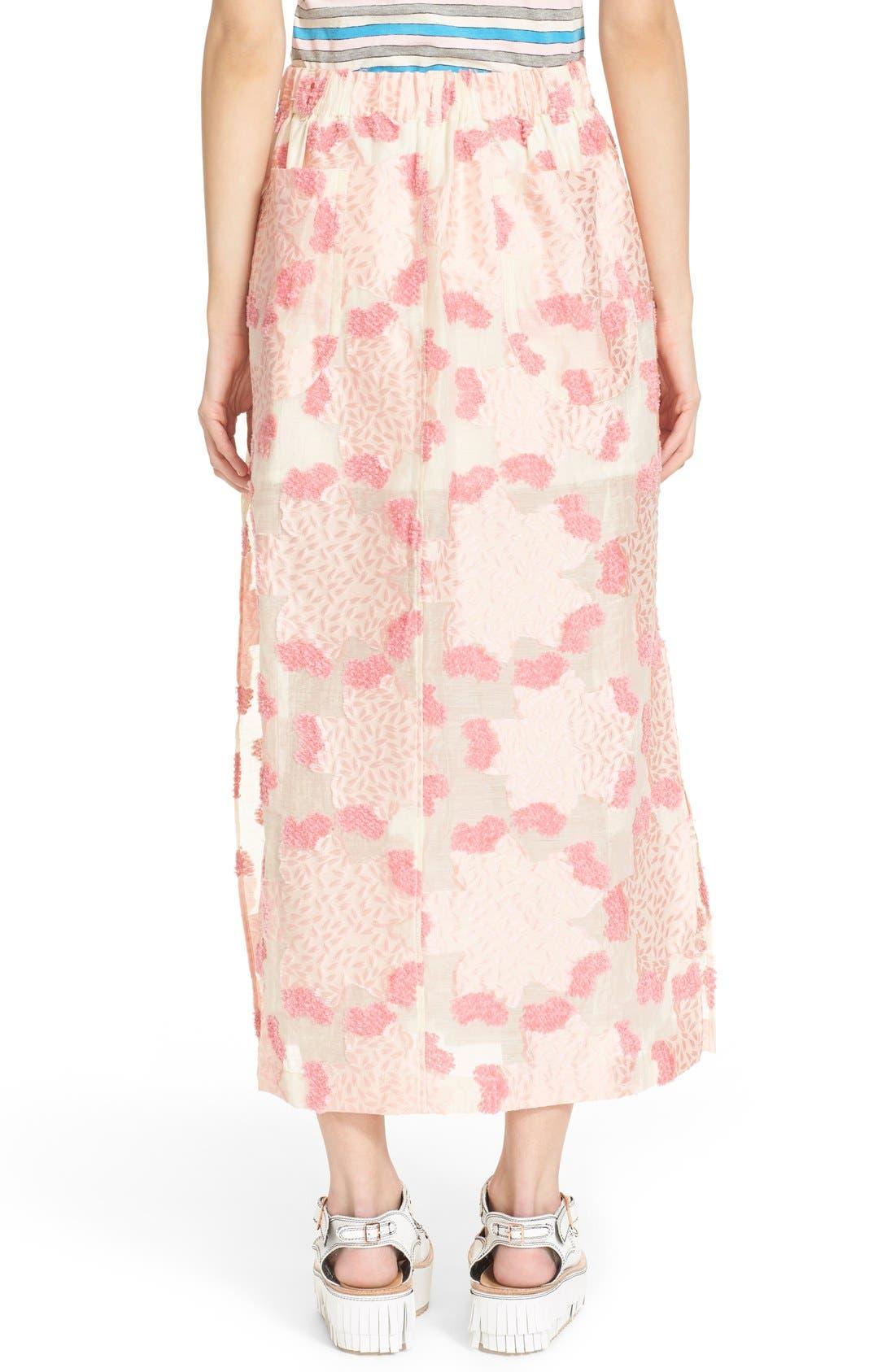 Alternate Image 2  - Julien David Fil Coupé Floral Jacquard Skirt