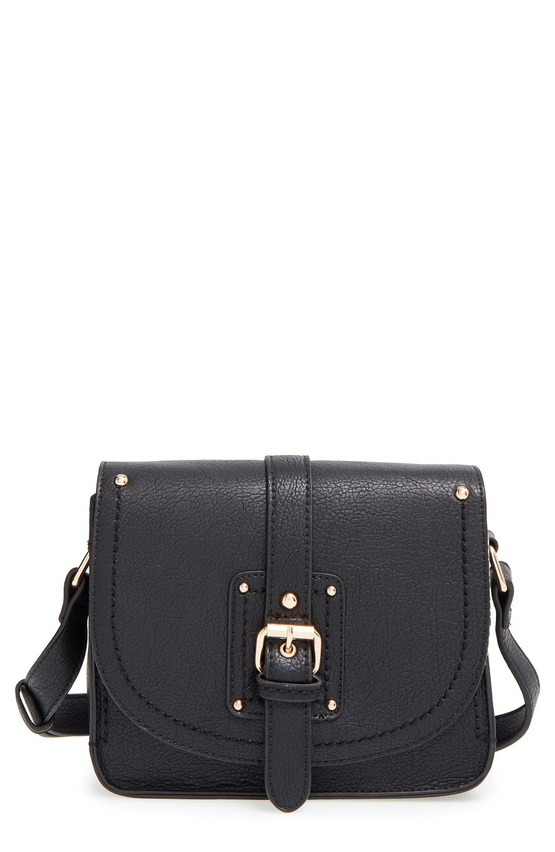 Main Image - Sole Society 'Saylah' Structured Faux Leather Crossbody Bag