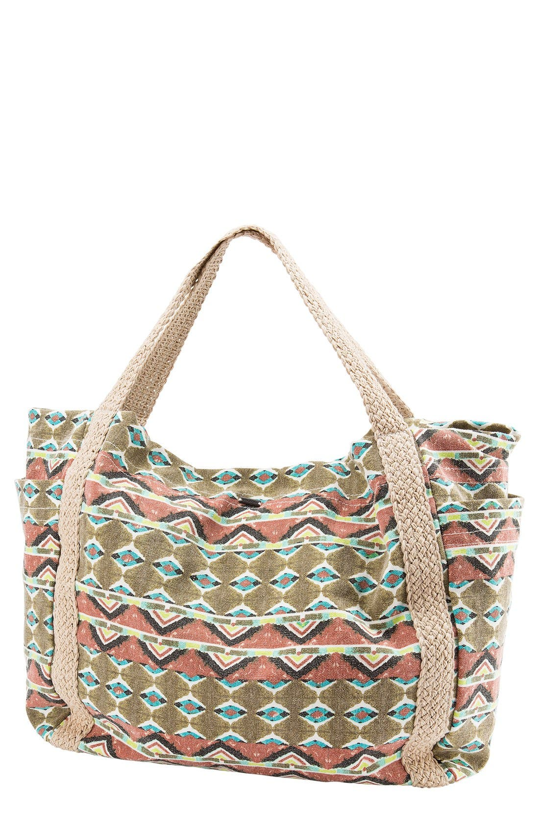 Alternate Image 1 Selected - Volcom 'Native Drift' Cotton Canvas Tote