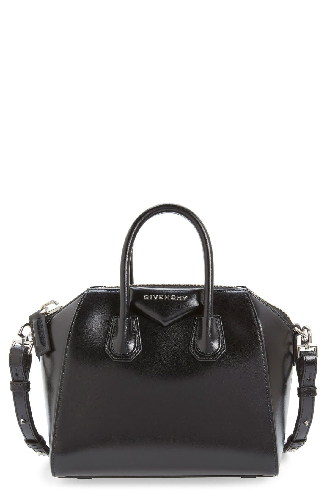 Givenchy 'Mini Antigona' Box Leather Satchel