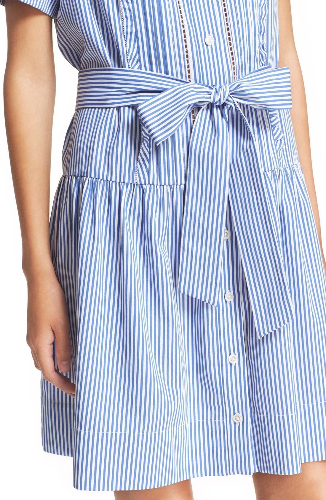 Alternate Image 4  - kate spade new york stripe pleated shirtdress