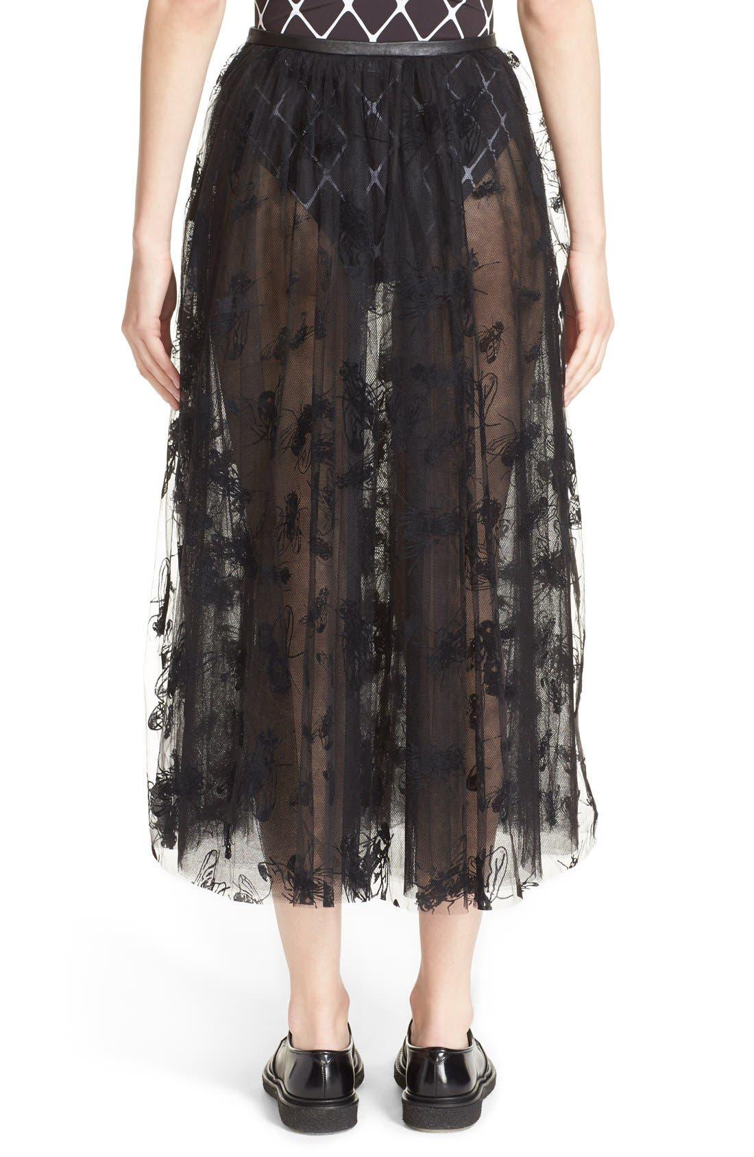 Alternate Image 2  - Ashley Williams 'Flock Fly' Sheer Tulle Skirt