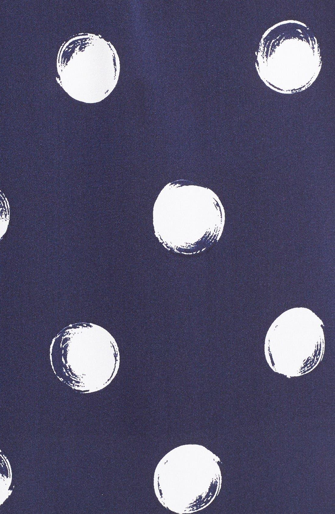 Alternate Image 5  - Nordstrom Collection Dot Print Stretch Silk Blouse