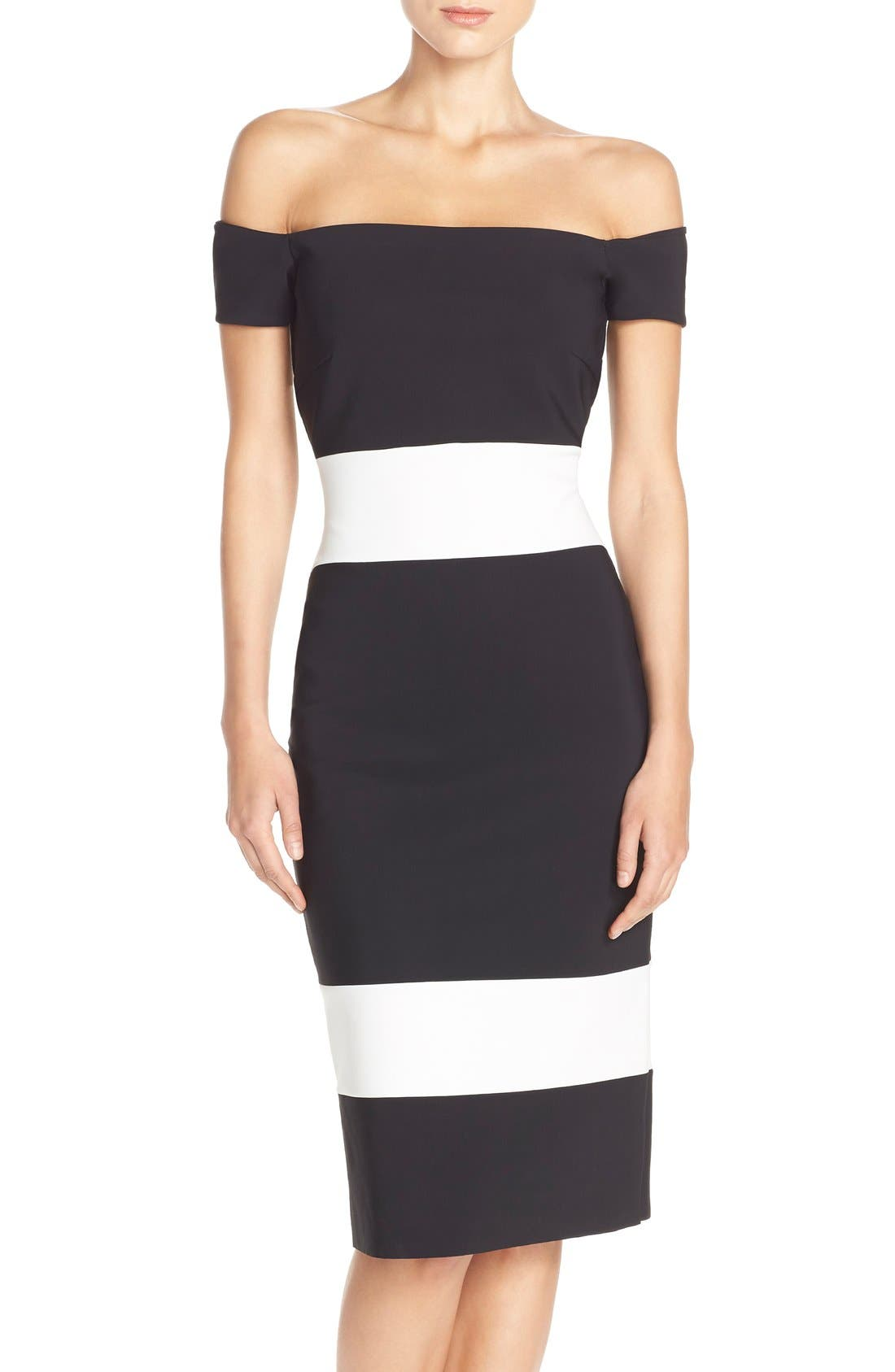 Alternate Image 1 Selected - Chiara Boni La Petite Robe 'Bebel' Stripe Jersey Sheath Dress