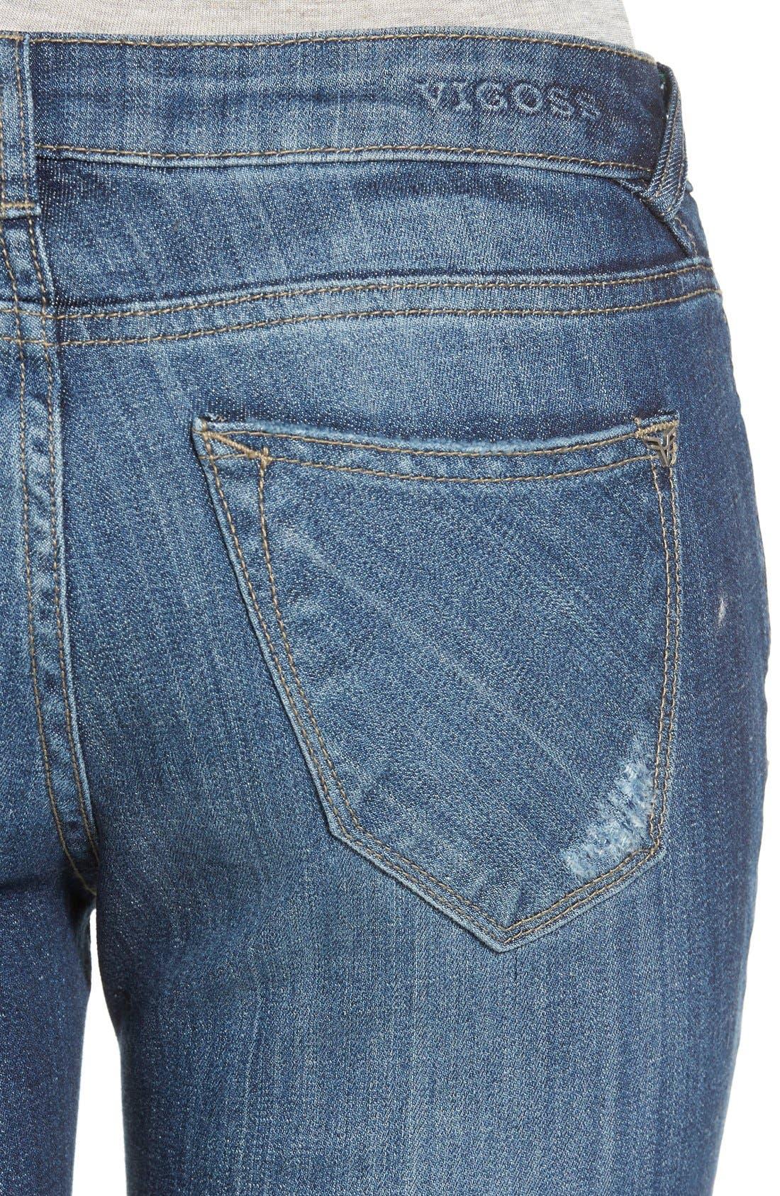 Alternate Image 5  - Vigoss 'Tomboy' Destroyed Skinny Jeans