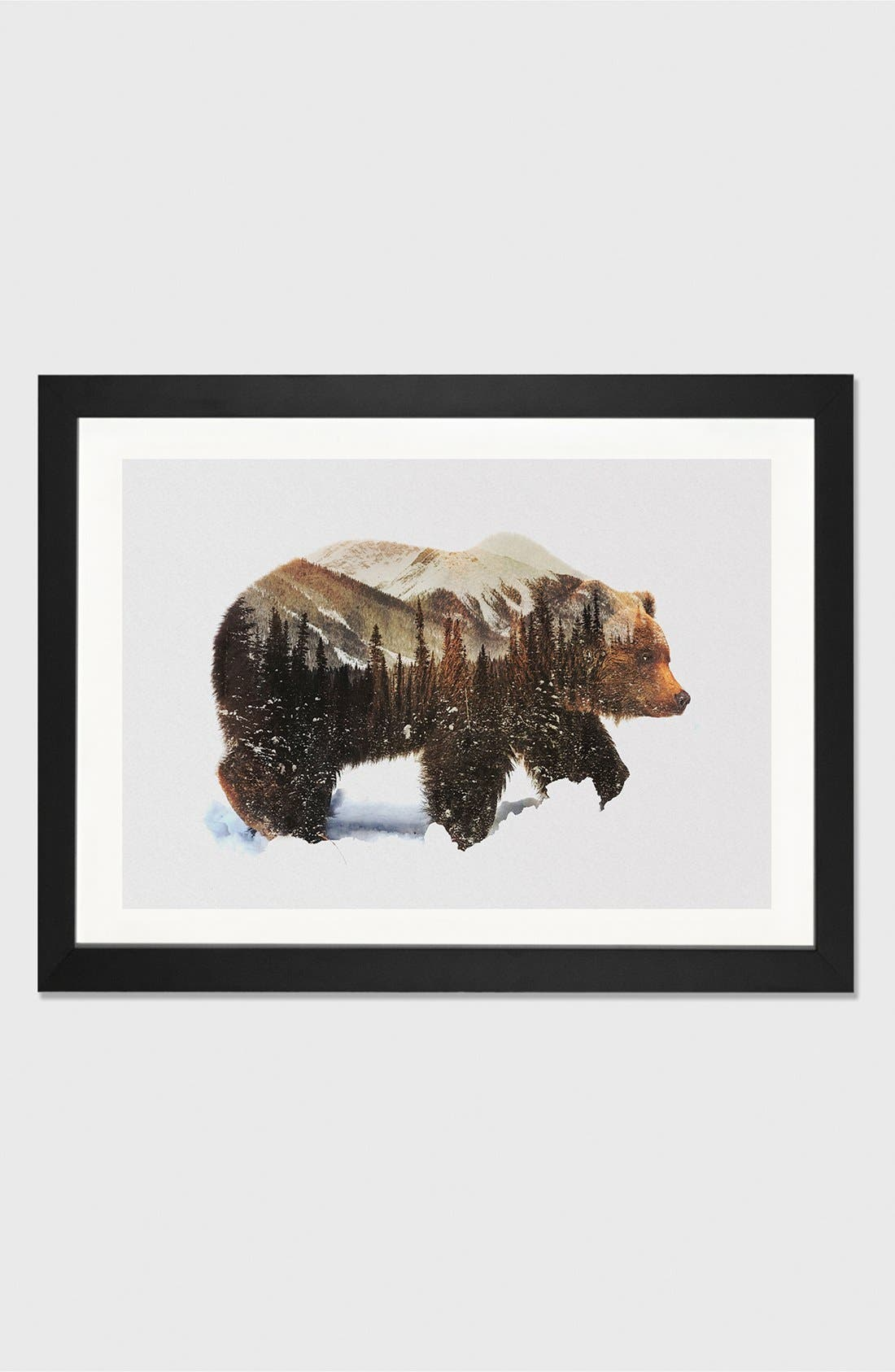 ICANVAS 'Grizzly Bear' Giclée Print Framed Canvas Art
