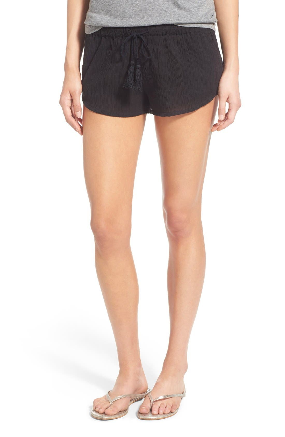 Alternate Image 1 Selected - Rip Curl 'Love & Surf' Cotton Crepe Shorts