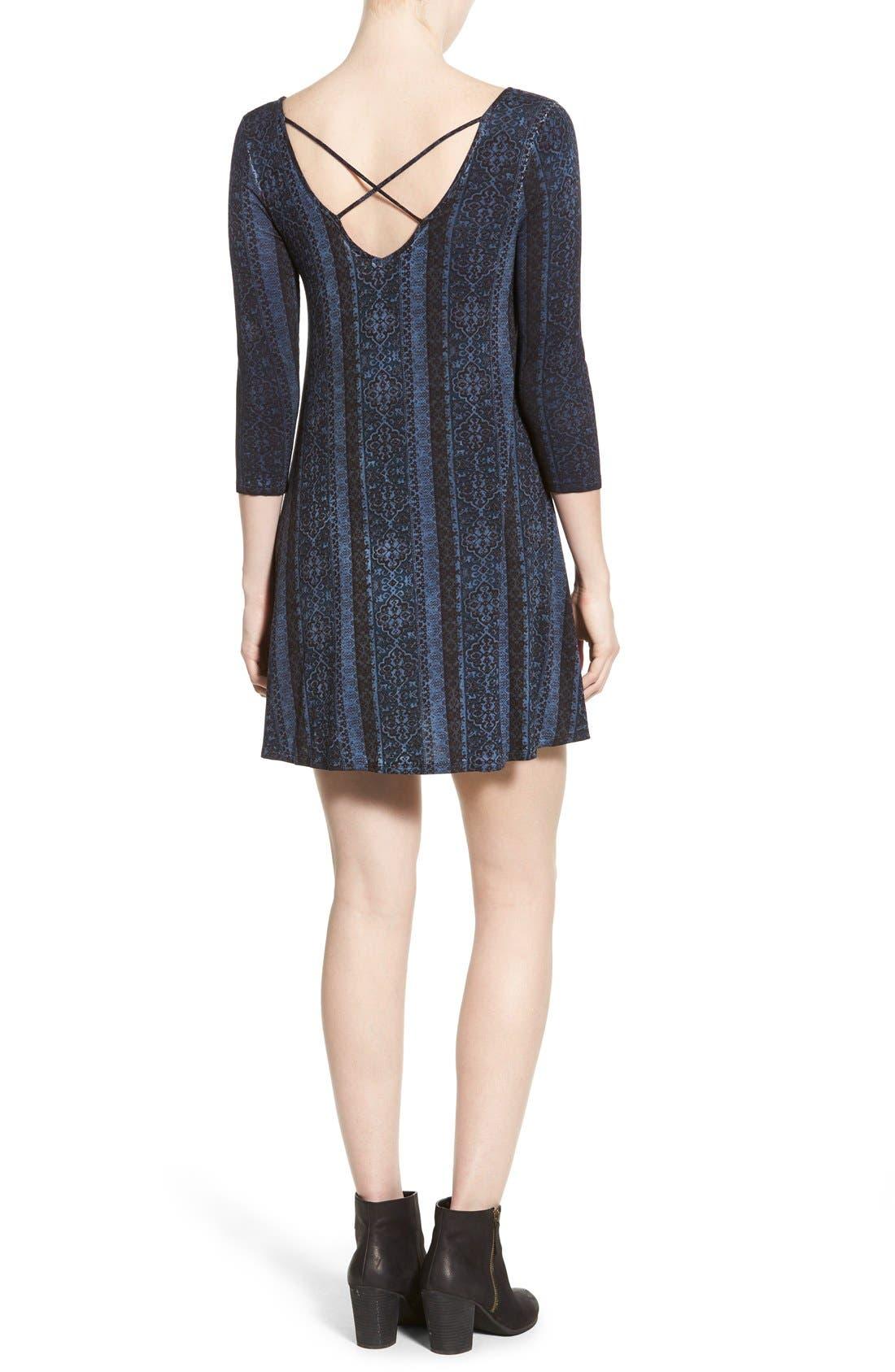 Alternate Image 2  - Socialite Print Cross Back Knit Dress