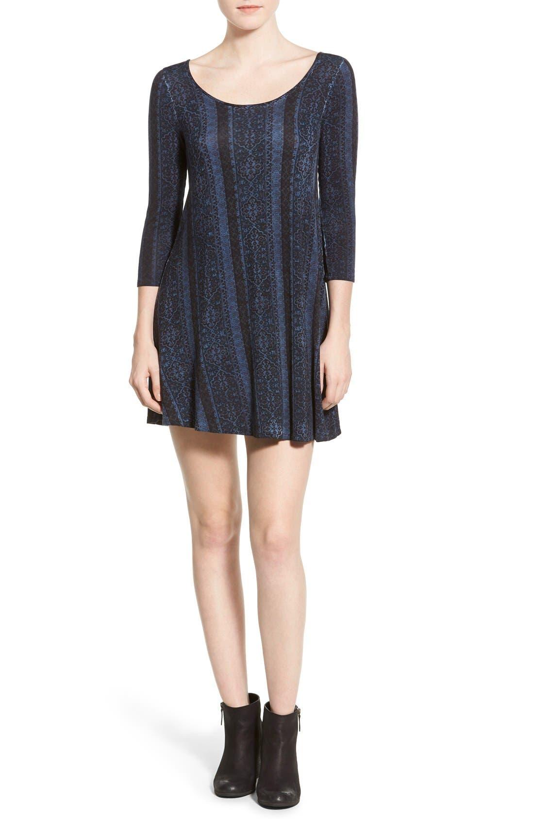 Main Image - Socialite Print Cross Back Knit Dress