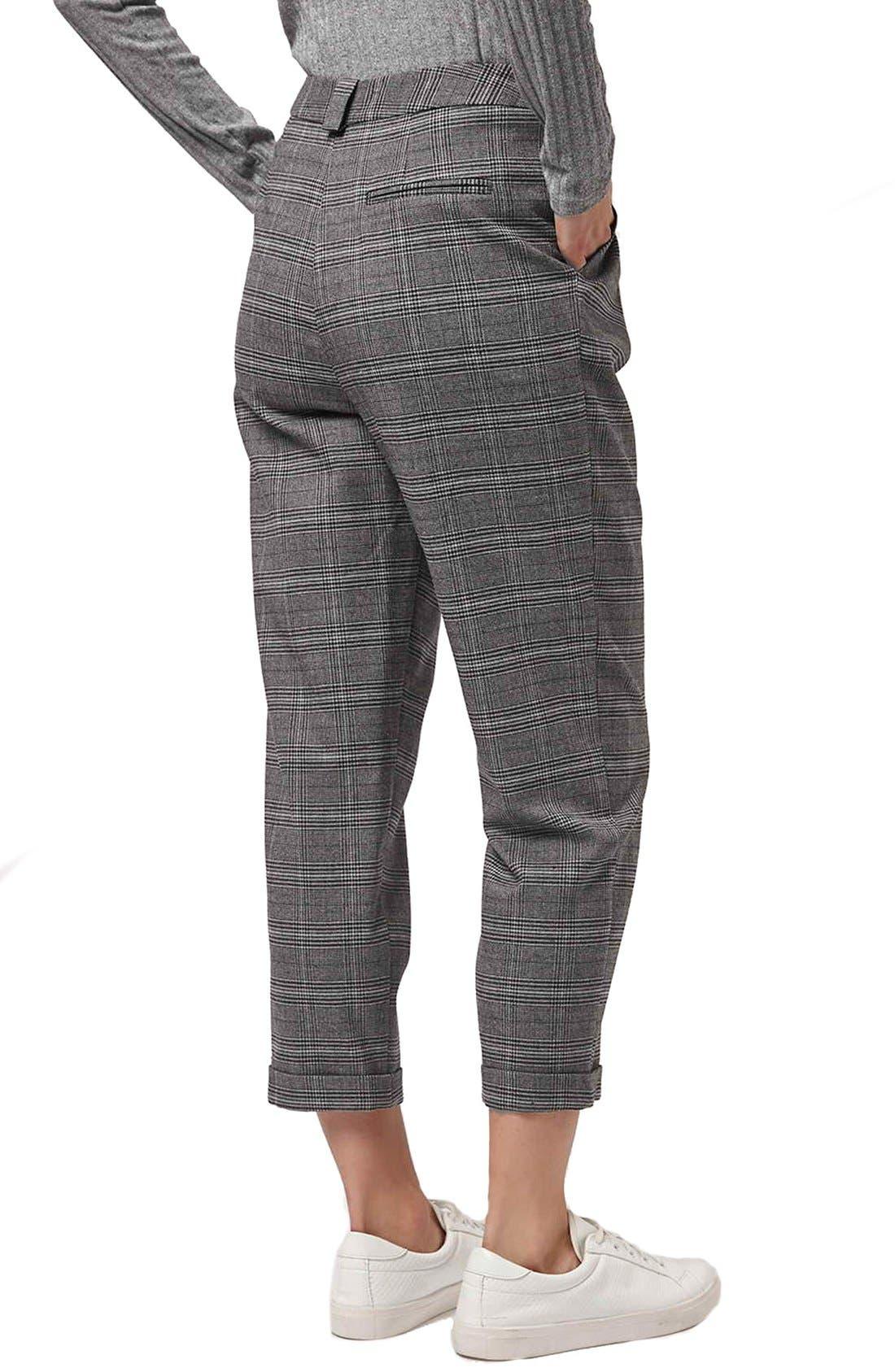 Alternate Image 3  - Topshop Check Crop Pants