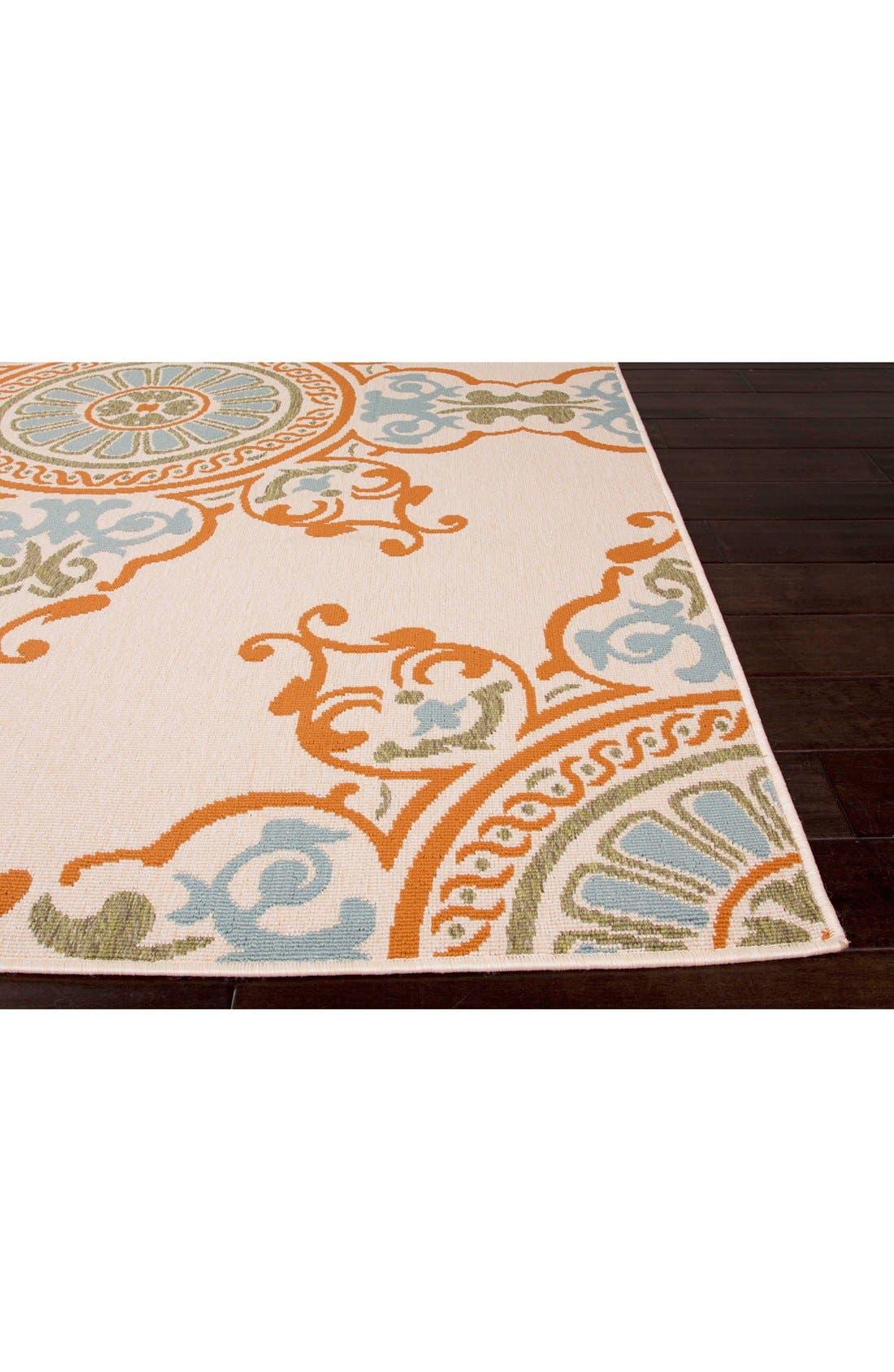 Alternate Image 2  - Jaipur 'Bloom Medallion' Indoor/Outdoor Rug
