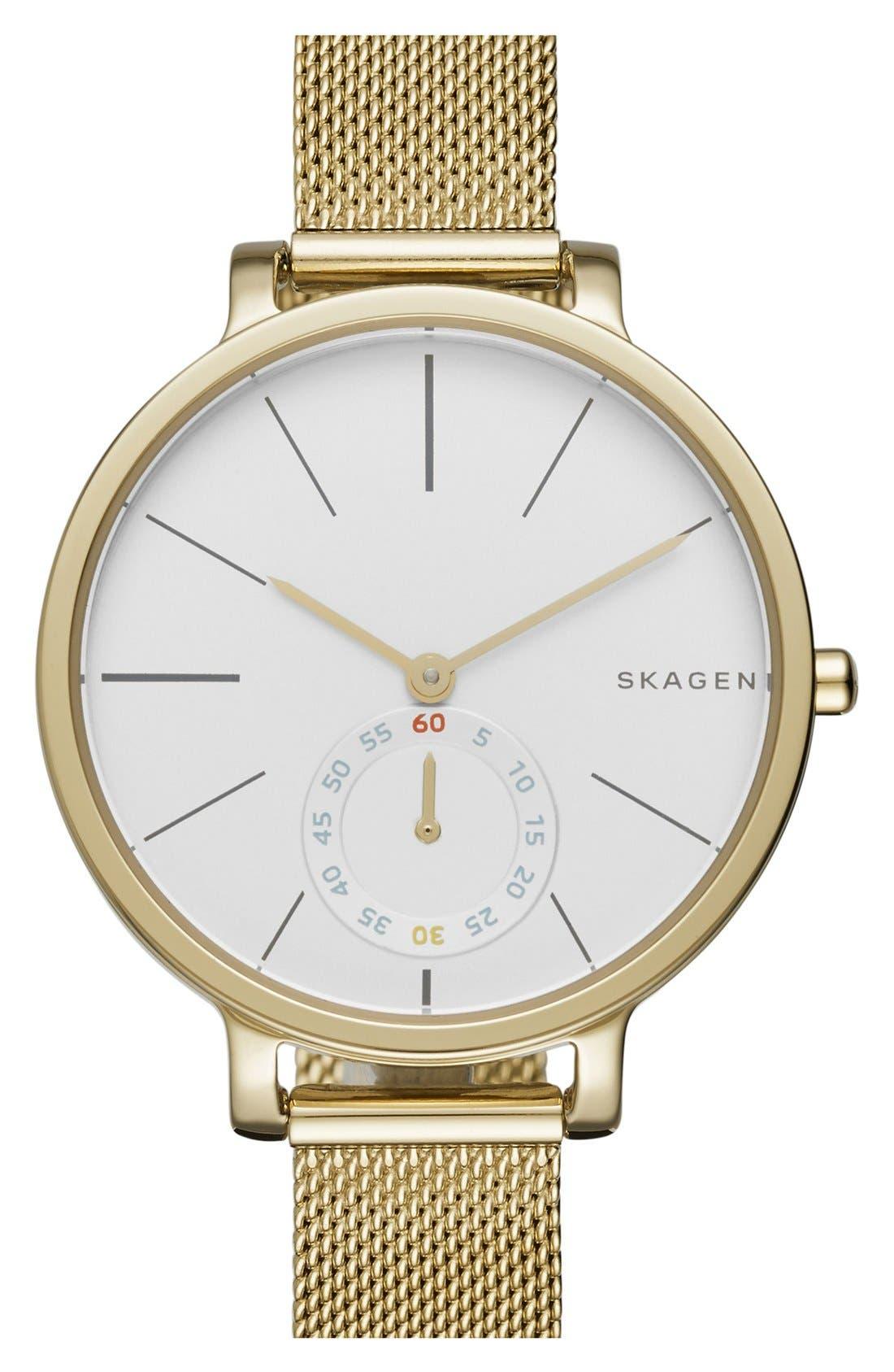 Alternate Image 1 Selected - Skagen 'Hagen' Mesh Strap Watch, 34mm
