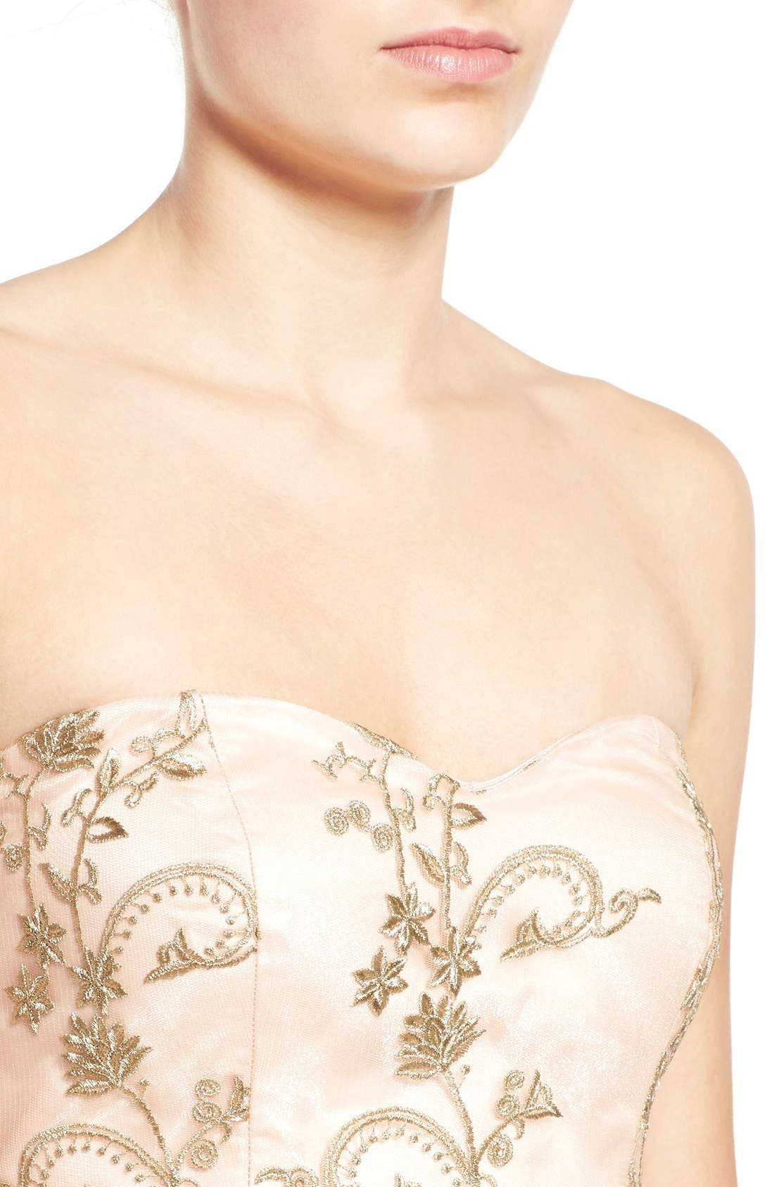 Alternate Image 4  - a. drea Embroidered Lace Strapless Dress