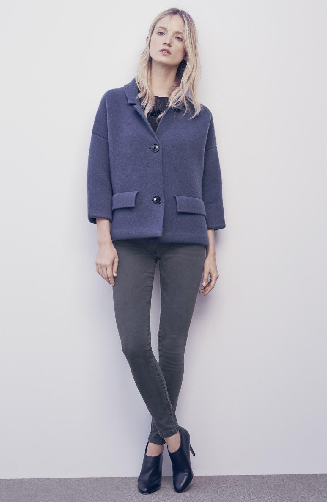 Alternate Image 4  - Burberry Brit Skinny Jeans (Mid Grey)