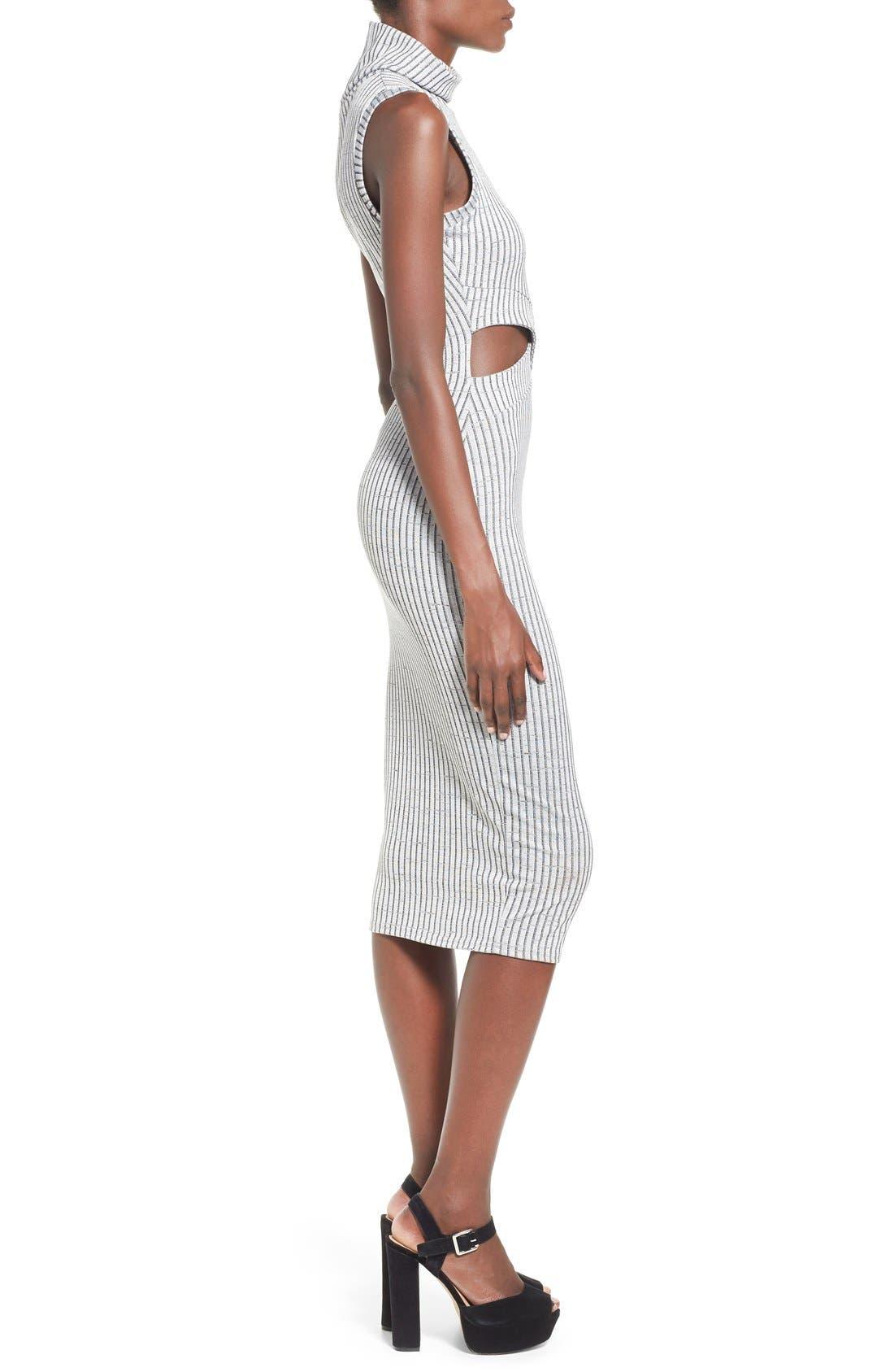 Alternate Image 3  - Missguided Funnel Neck Cutout Midi Dress
