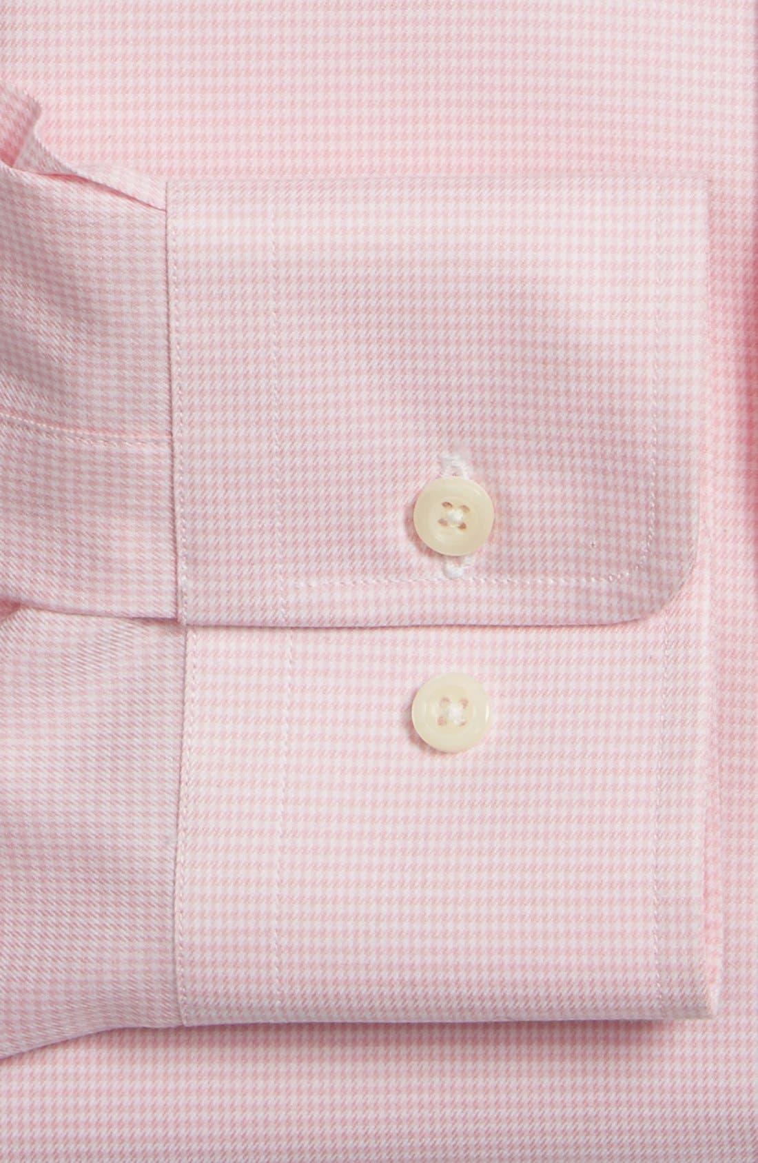 Alternate Image 2  - David Donahue Trim Fit Micro Houndstooth Dress Shirt