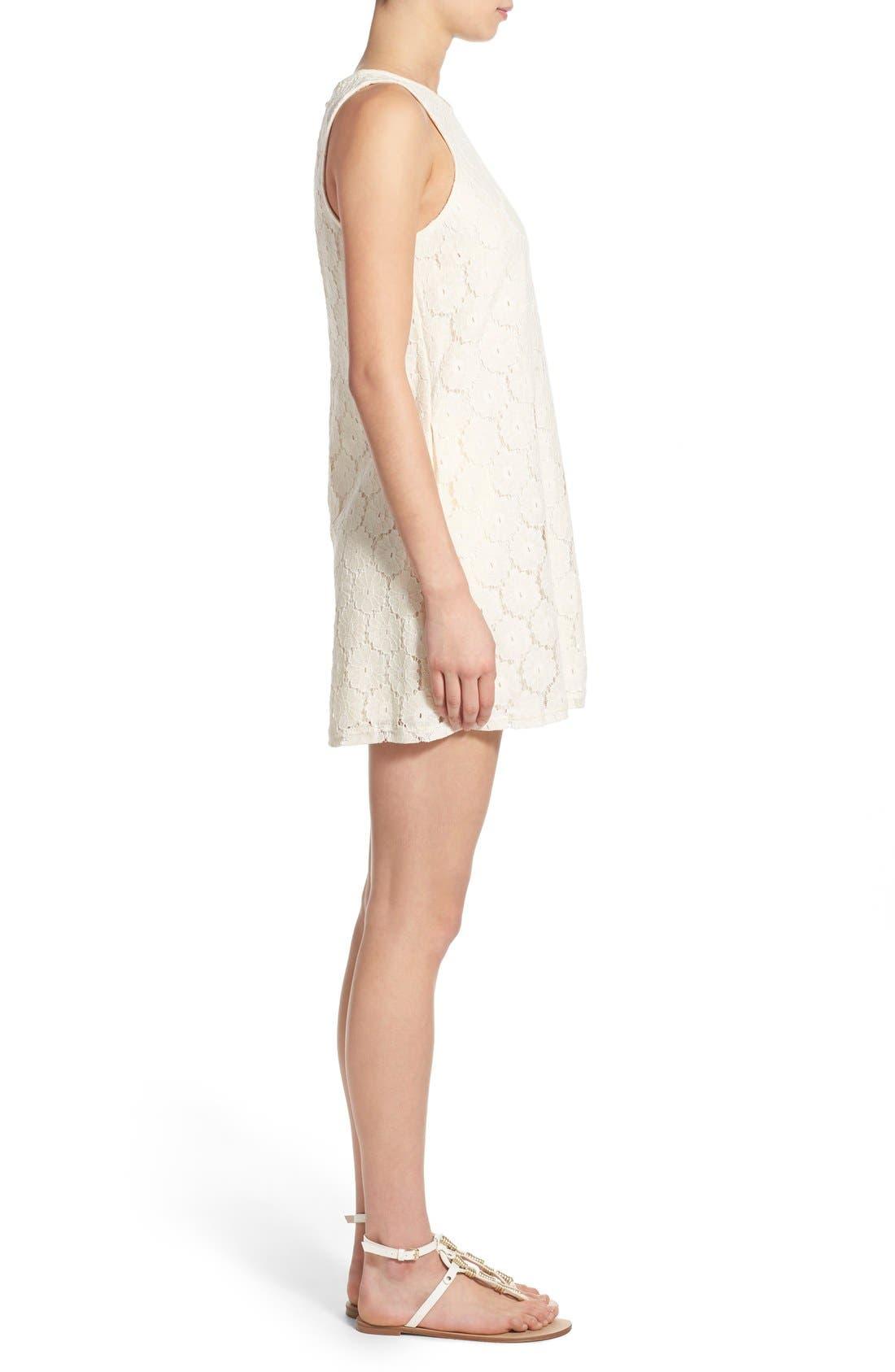 Alternate Image 3  - Speechless 'Daisy' Lace Sleeveless Shift Dress