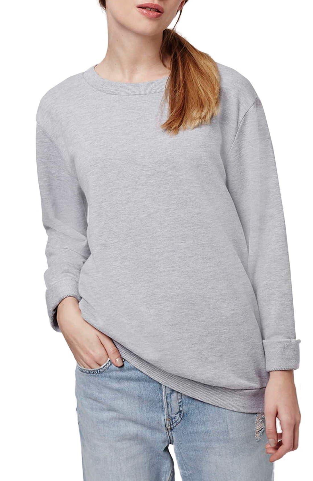 Alternate Image 1 Selected - Topshop Washed '90s Sweatshirt
