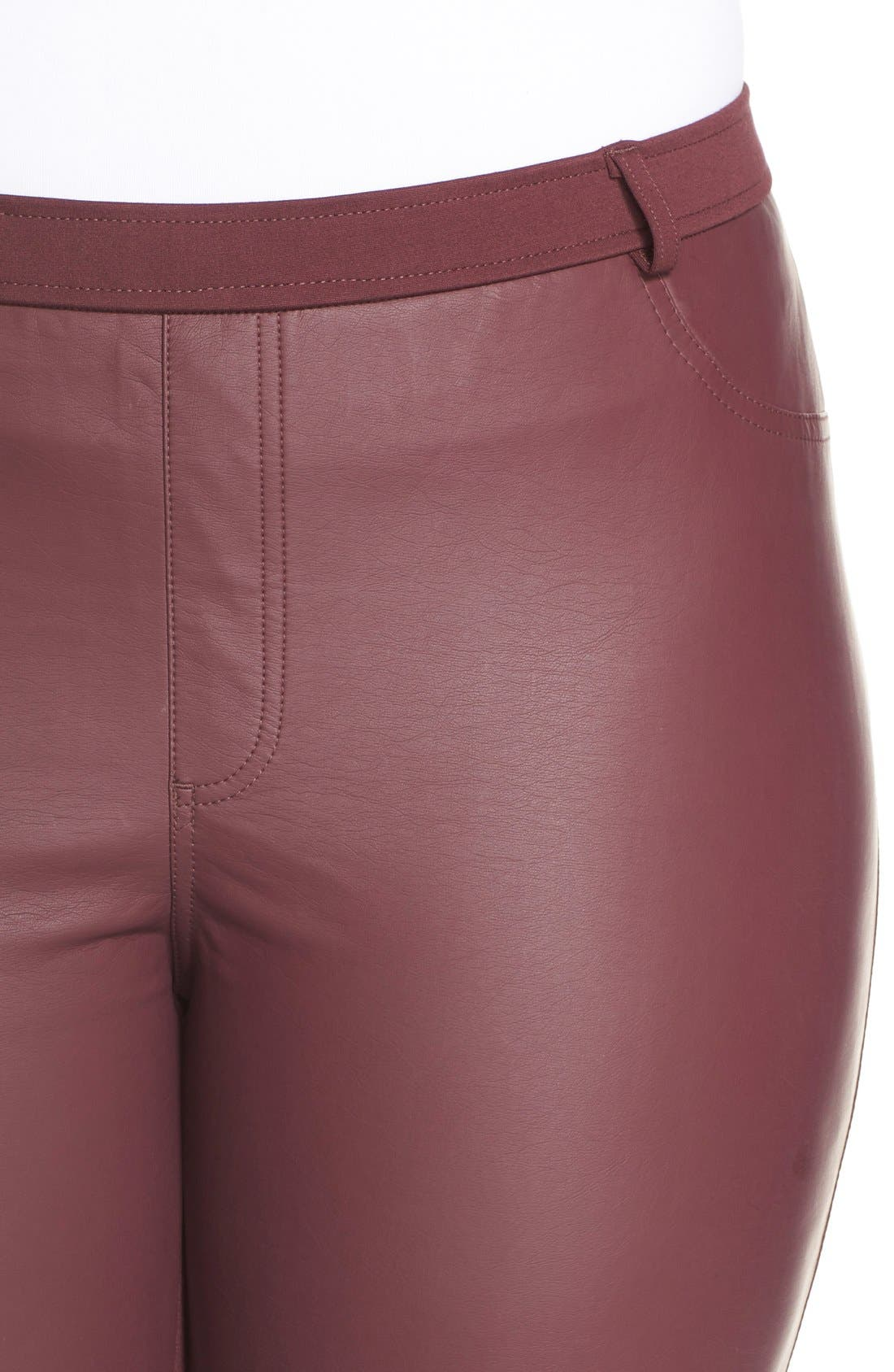 Alternate Image 4  - Tart 'Morgan' Faux Leather & Ponte Leggings (Plus Size)