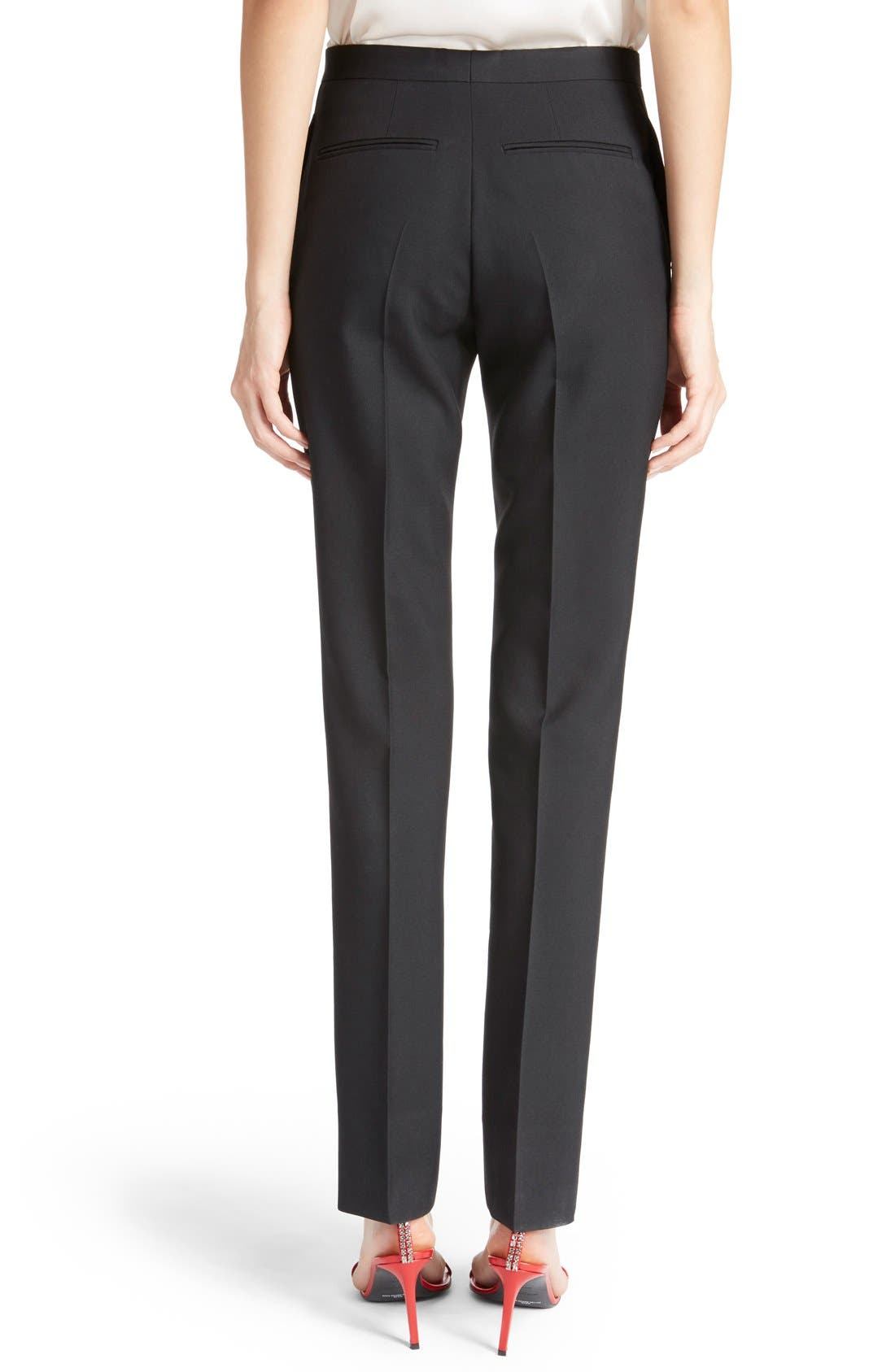 Alternate Image 2  - Saint Laurent Skinny Wool Gabardine Pants