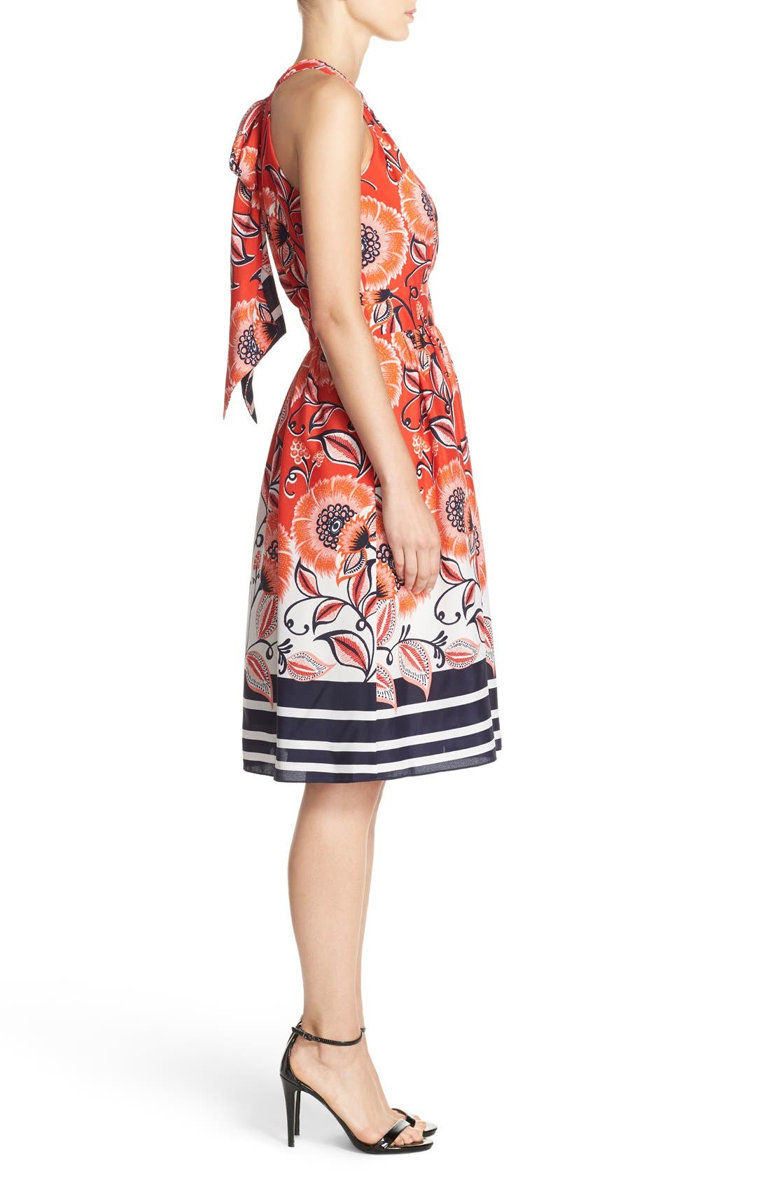 Alternate Image 3  - Eliza J Mixed Print Crêpe de Chine Fit & Flare Dress