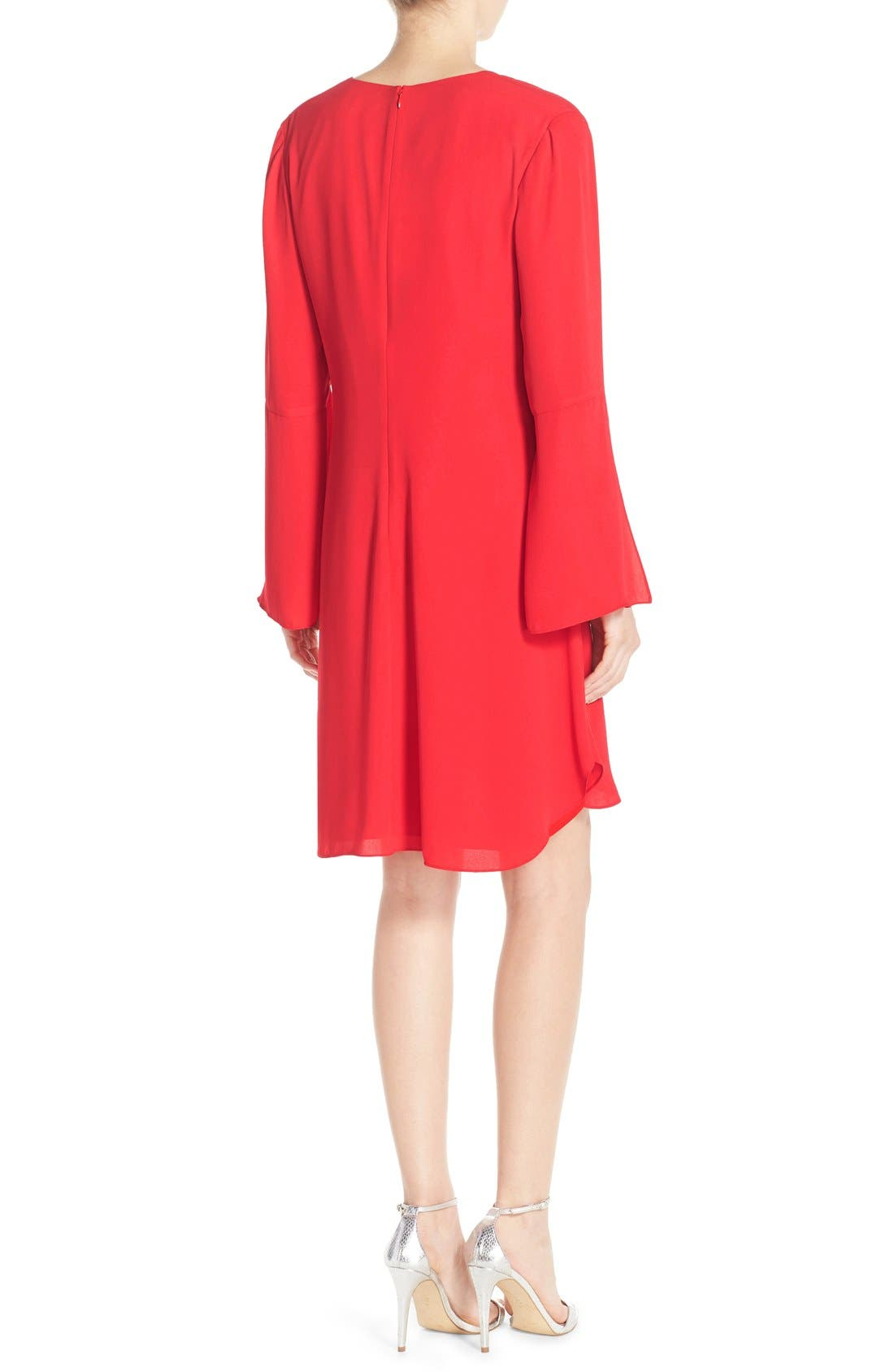 Alternate Image 2  - Chelsea28 Bell Sleeve Chiffon A-Line Dress