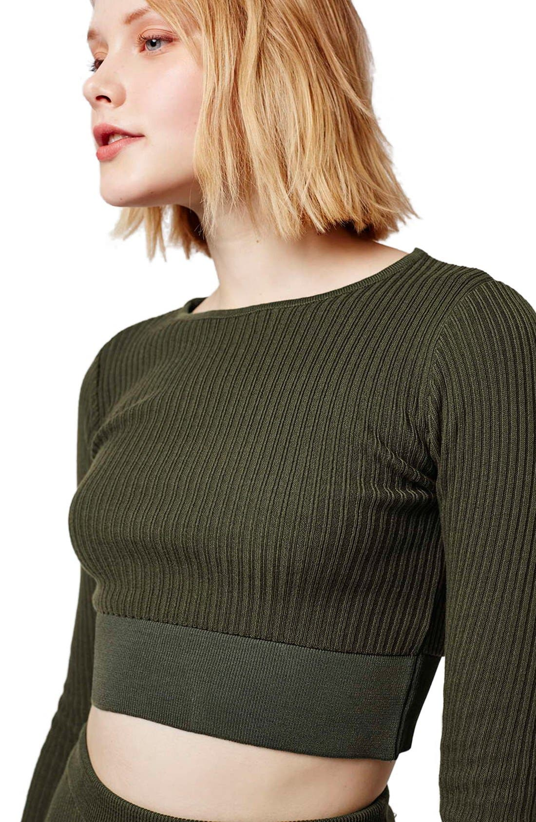 Alternate Image 5  - Topshop Ribbed Crop Top