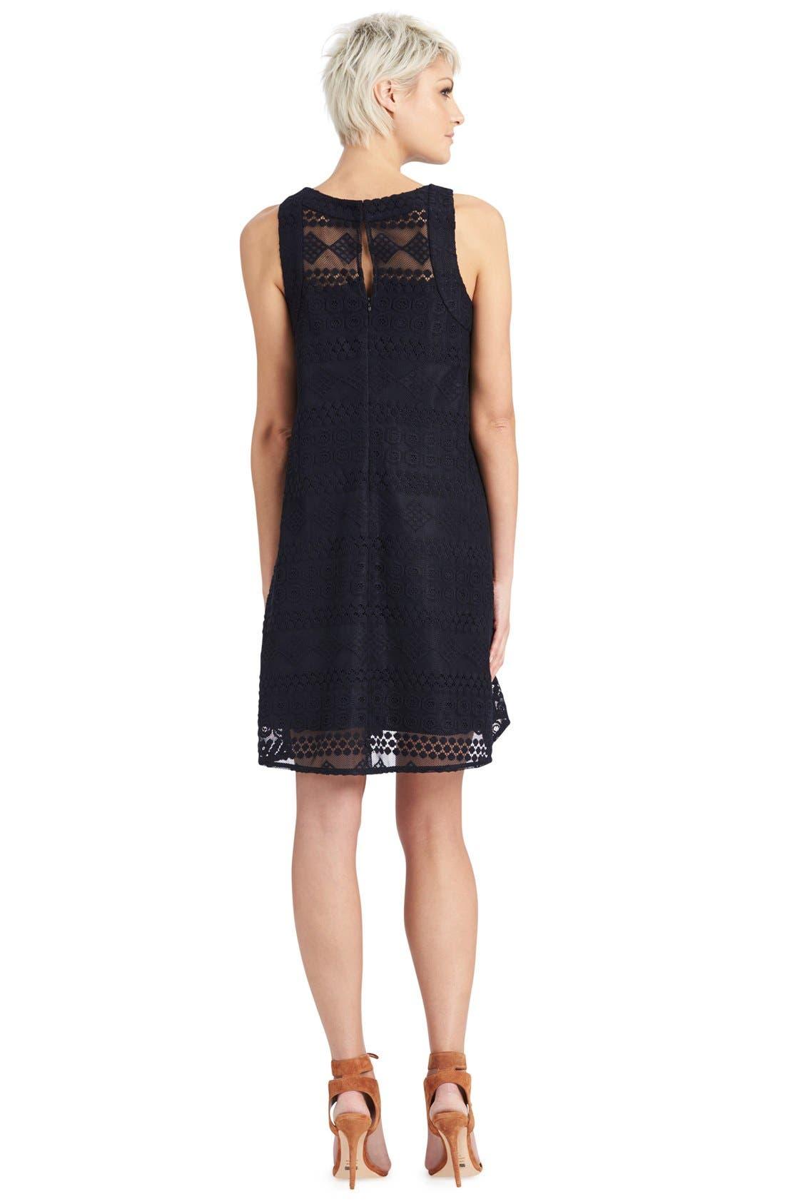 Alternate Image 2  - Donna Morgan Embroidered Mesh Swing Dress