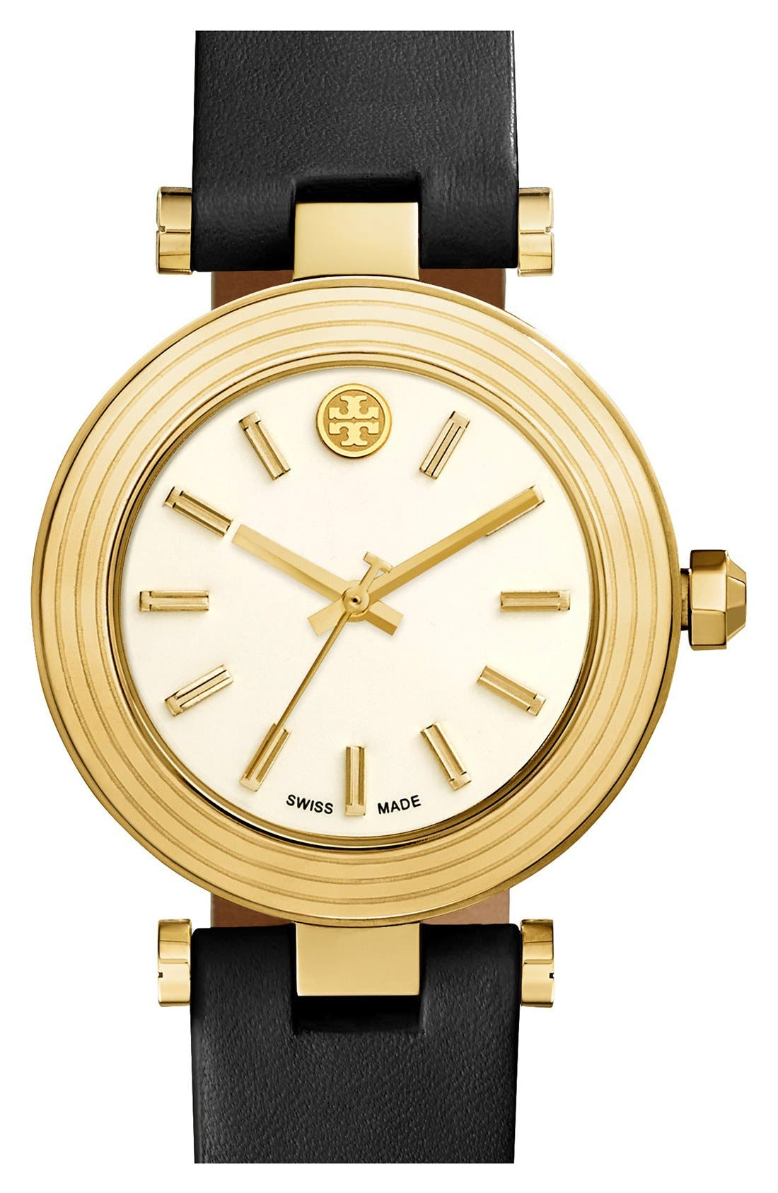 Main Image - Tory Burch Leather Strap Watch, 35mm