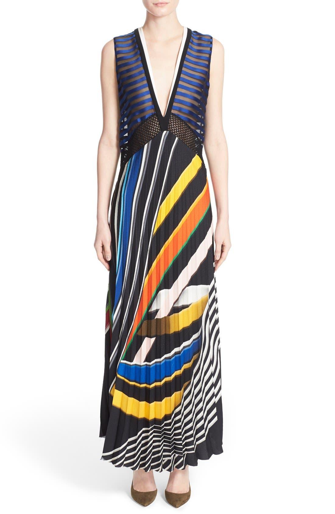 Alternate Image 1 Selected - Mary Katrantzou 'Rindi' V Neck Satin Dress