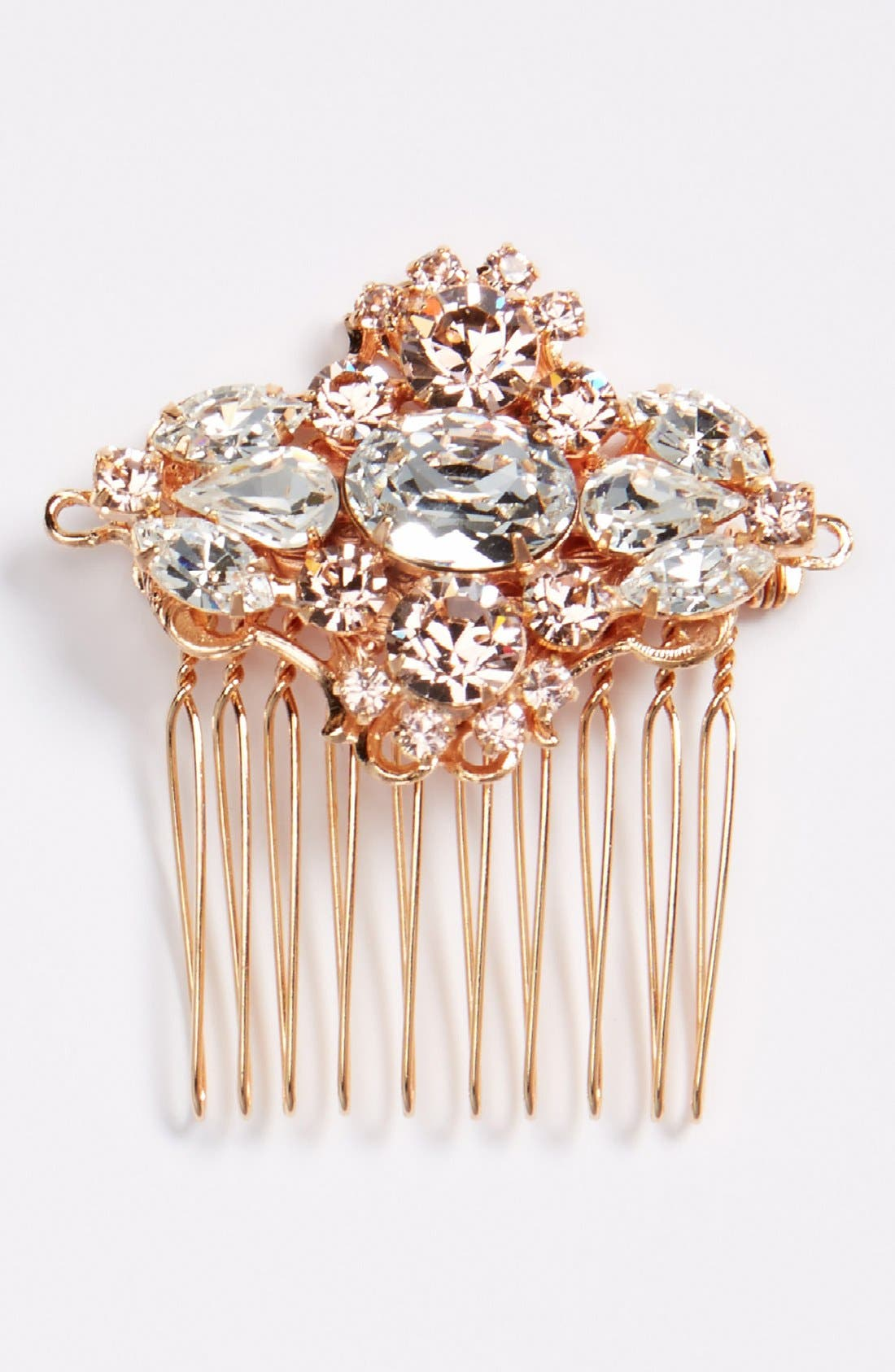 Alternate Image 1 Selected - Camilla Christine Small Jeweled Comb