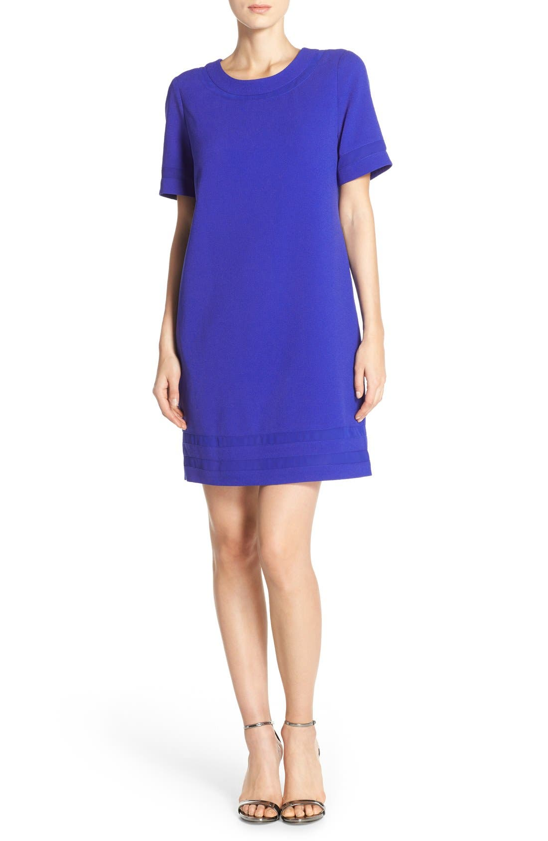 Alternate Image 3  - Marc New York Short Sleeve Crepe Shift Dress