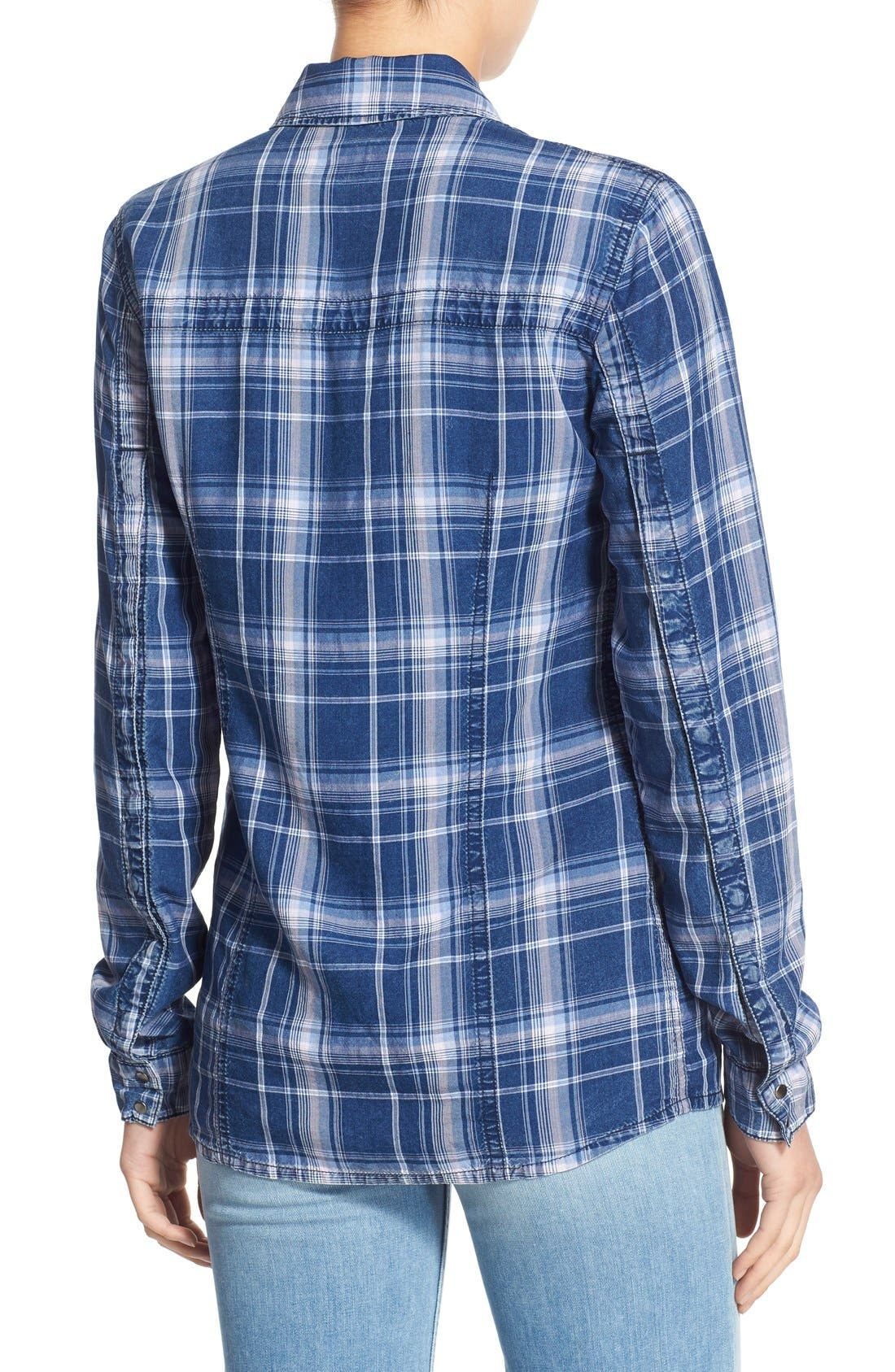Alternate Image 2  - Hudson Jeans 'Britt' Plaid Shirt